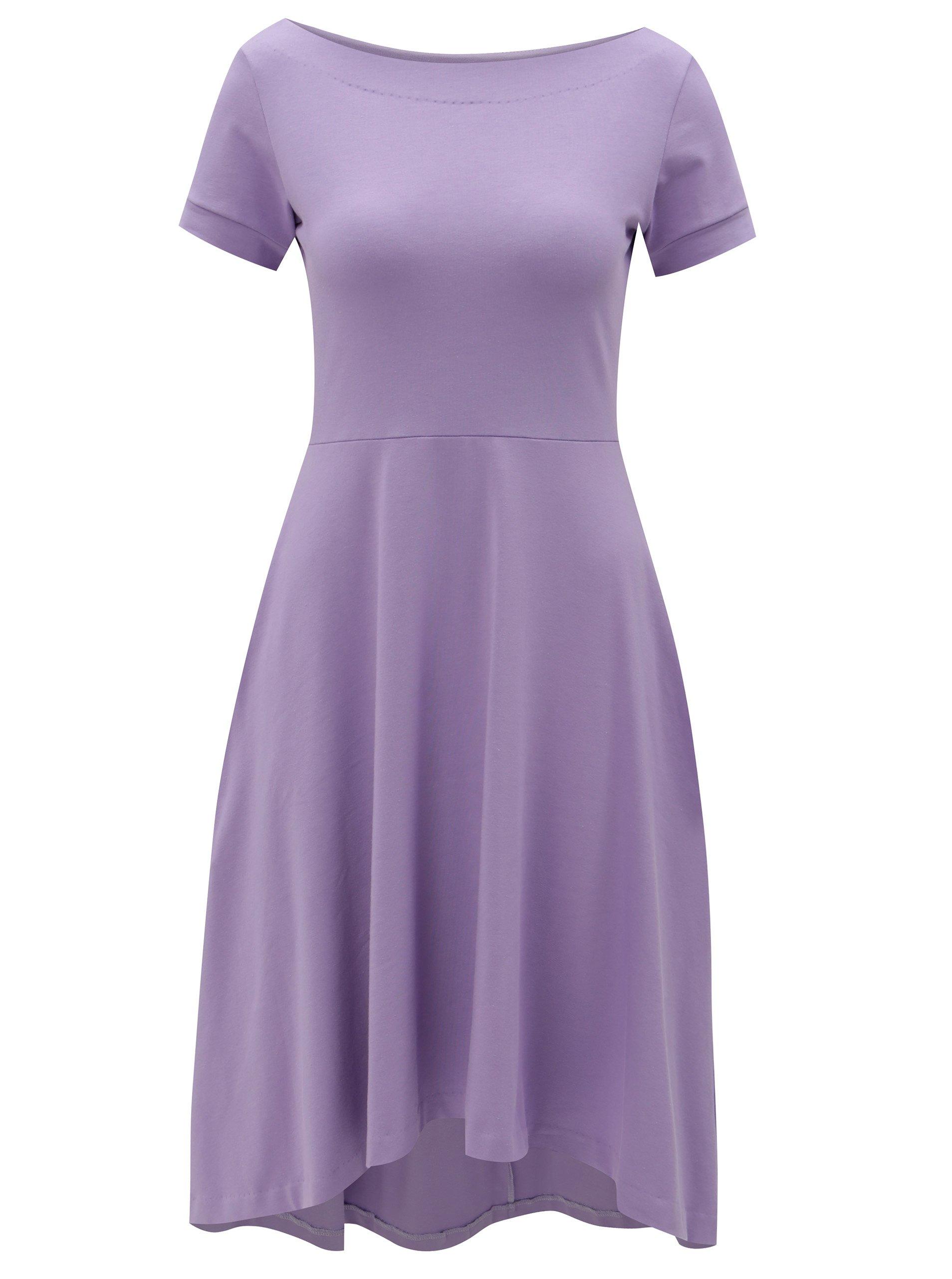 fc242c5b371a Fialové áčkové šaty s vreckami miestni