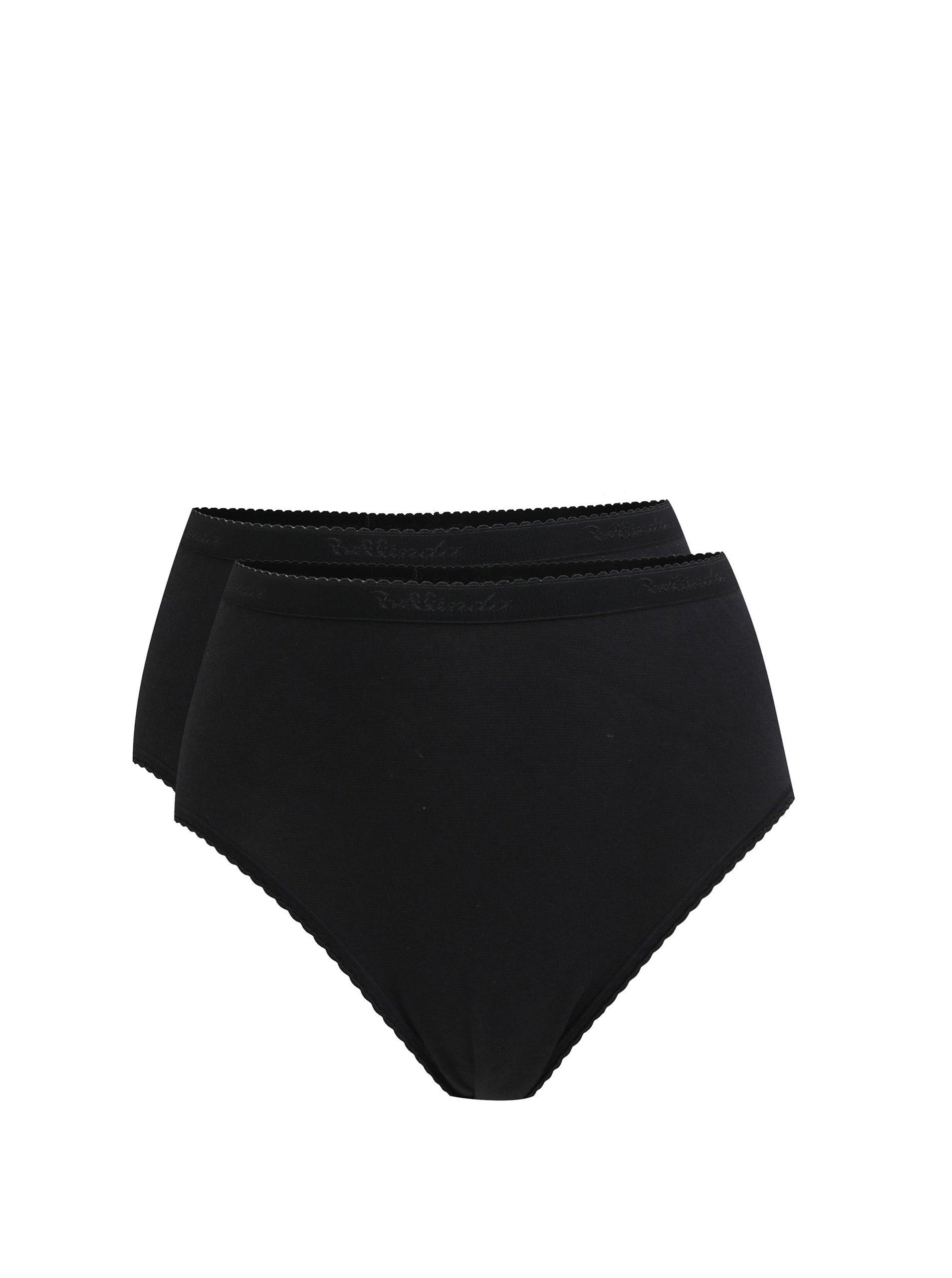 Sada dvou kalhotek s vysokým sedem v černé barvě Bellinda