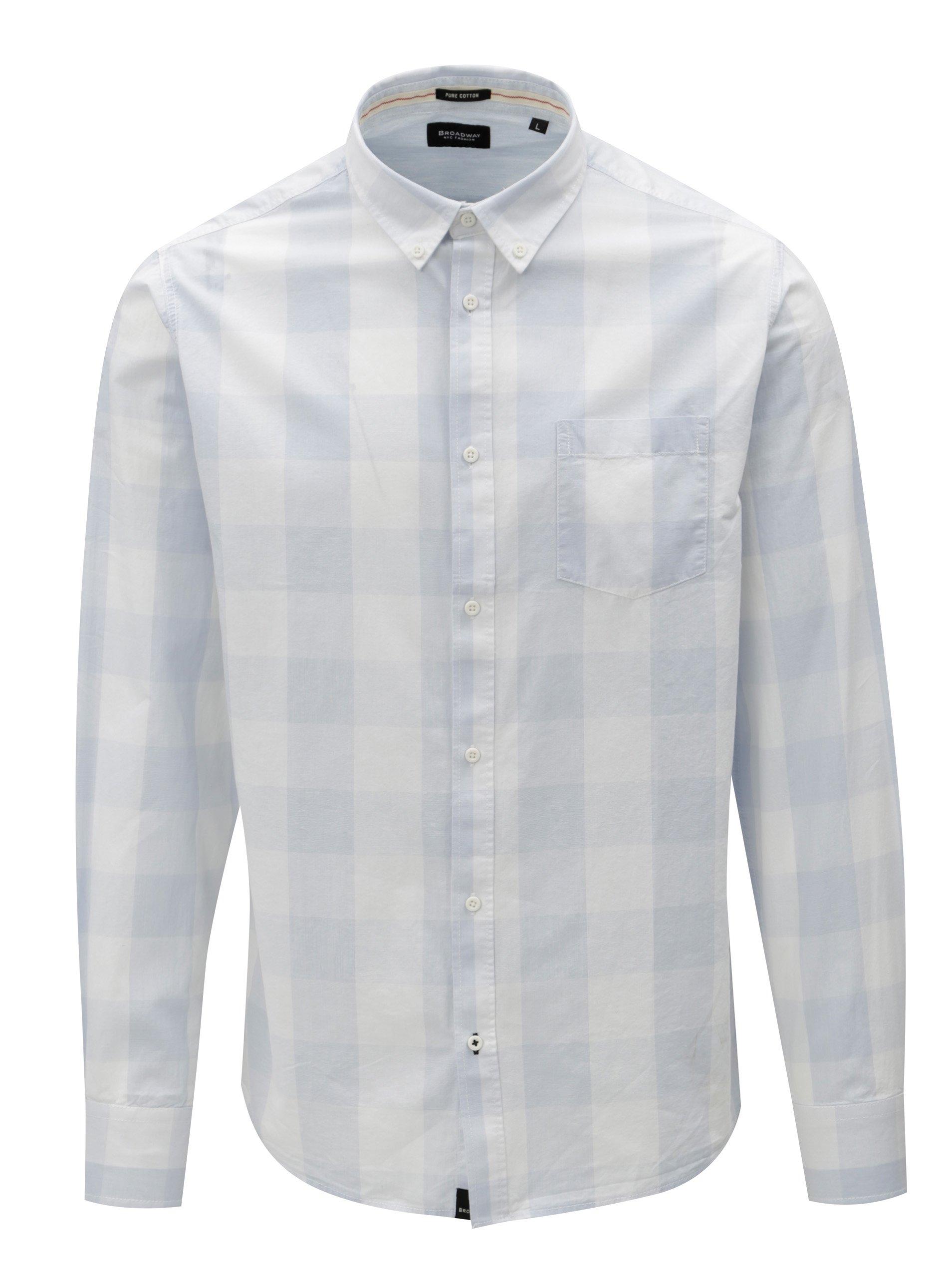 Fotografie Světle modrá pánská kostkovaná košile Broadway Dow