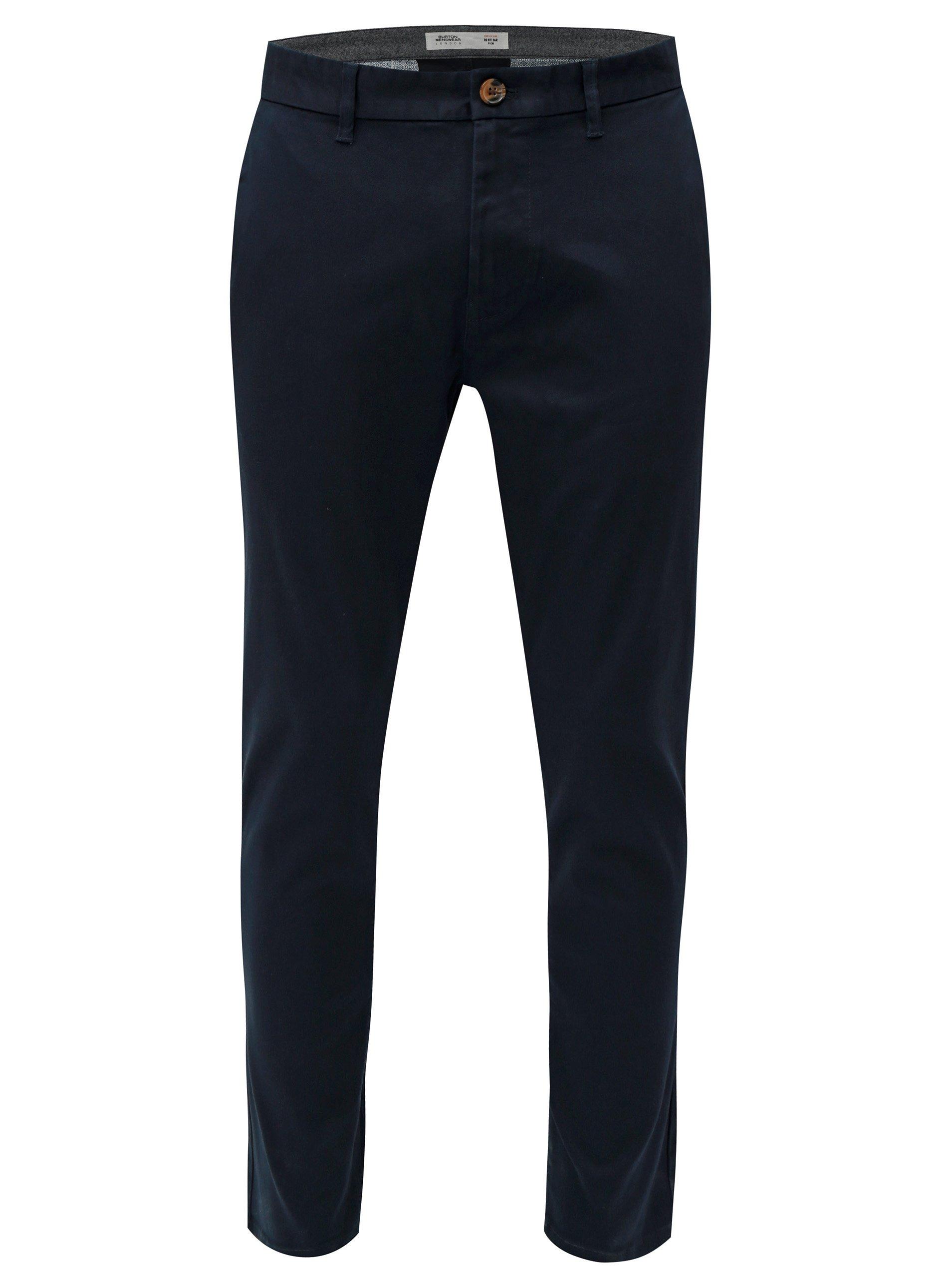 Tmavě modré slim fit chino kalhoty Burton Menswear London