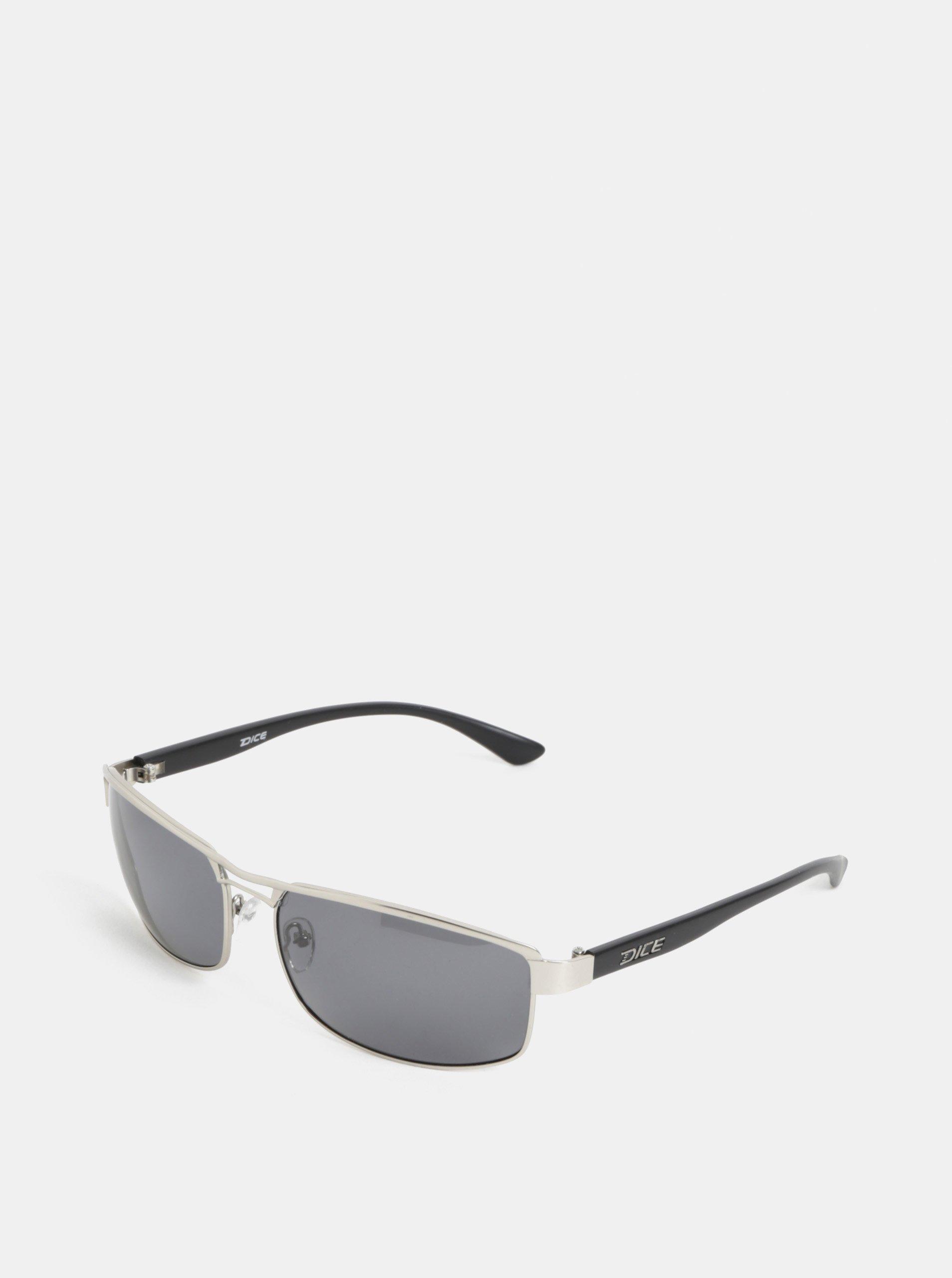 Pánské sluneční brýle ve stříbrné barvě Dice Arm Polar 3c86ed90846