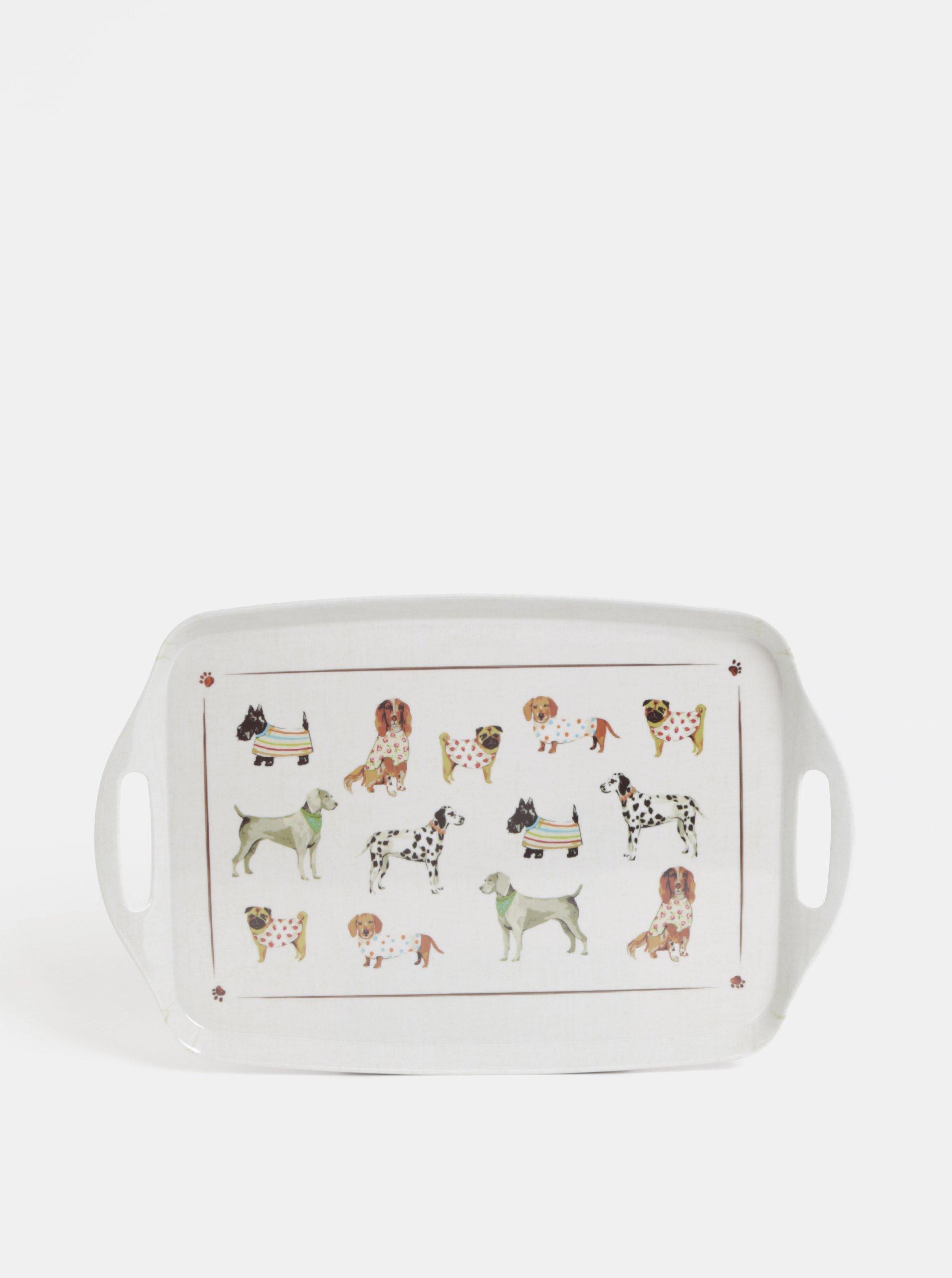 Krémová tácka s motívom psov Cooksmart