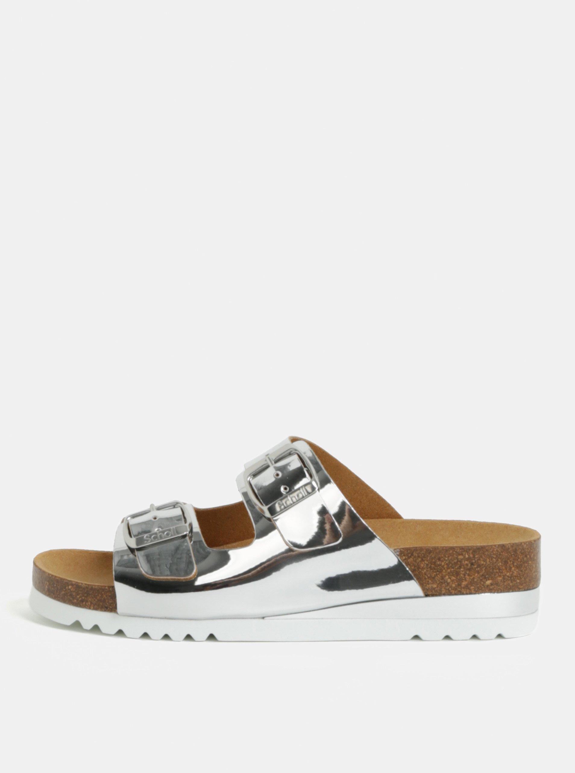e585dd96b0 Dámské zdravotní pantofle ve stříbrné barvě Scholl Glam