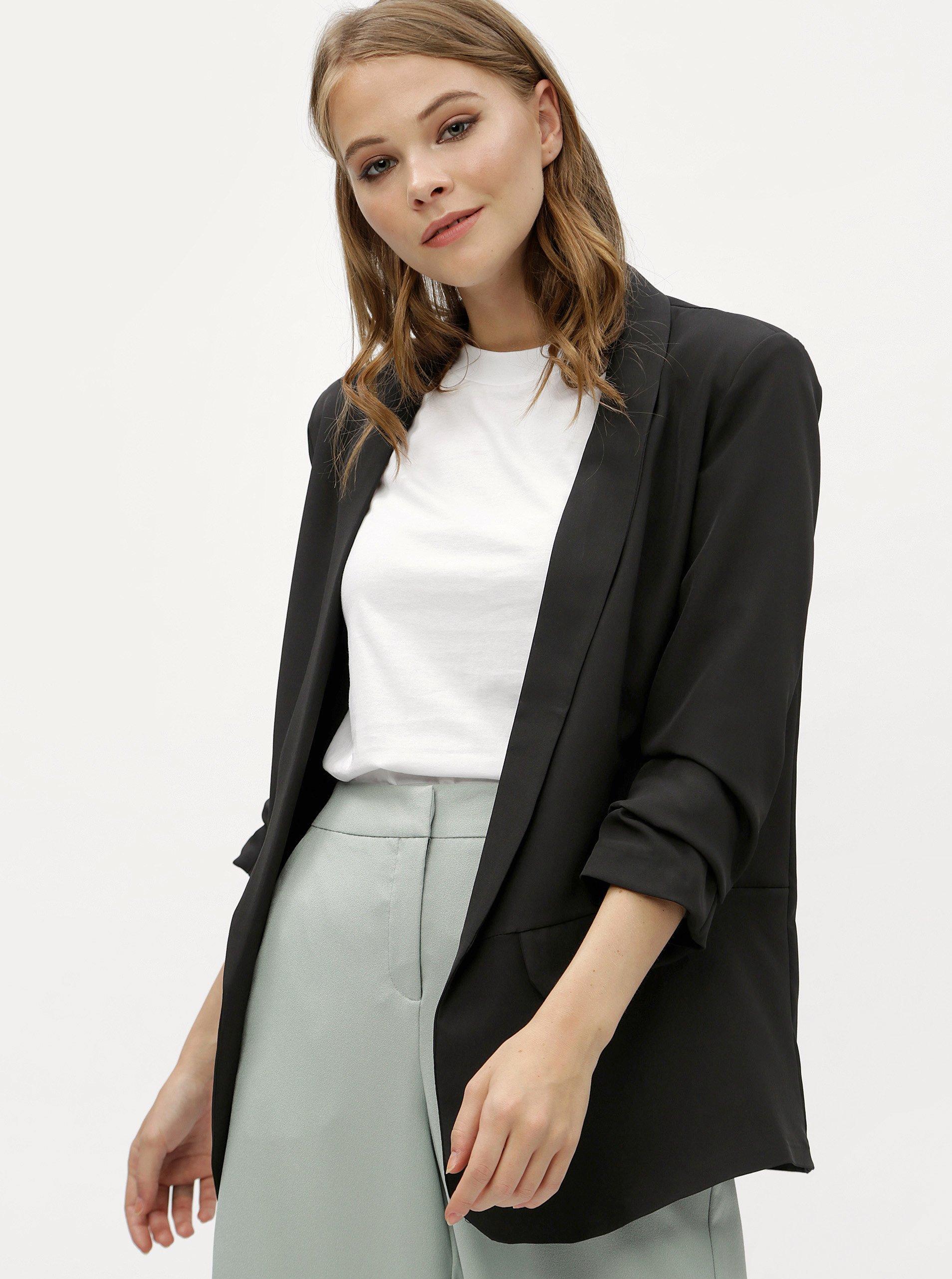 Čierne sako s 3 4 rukávom Haily´s Livia ad453d25a14