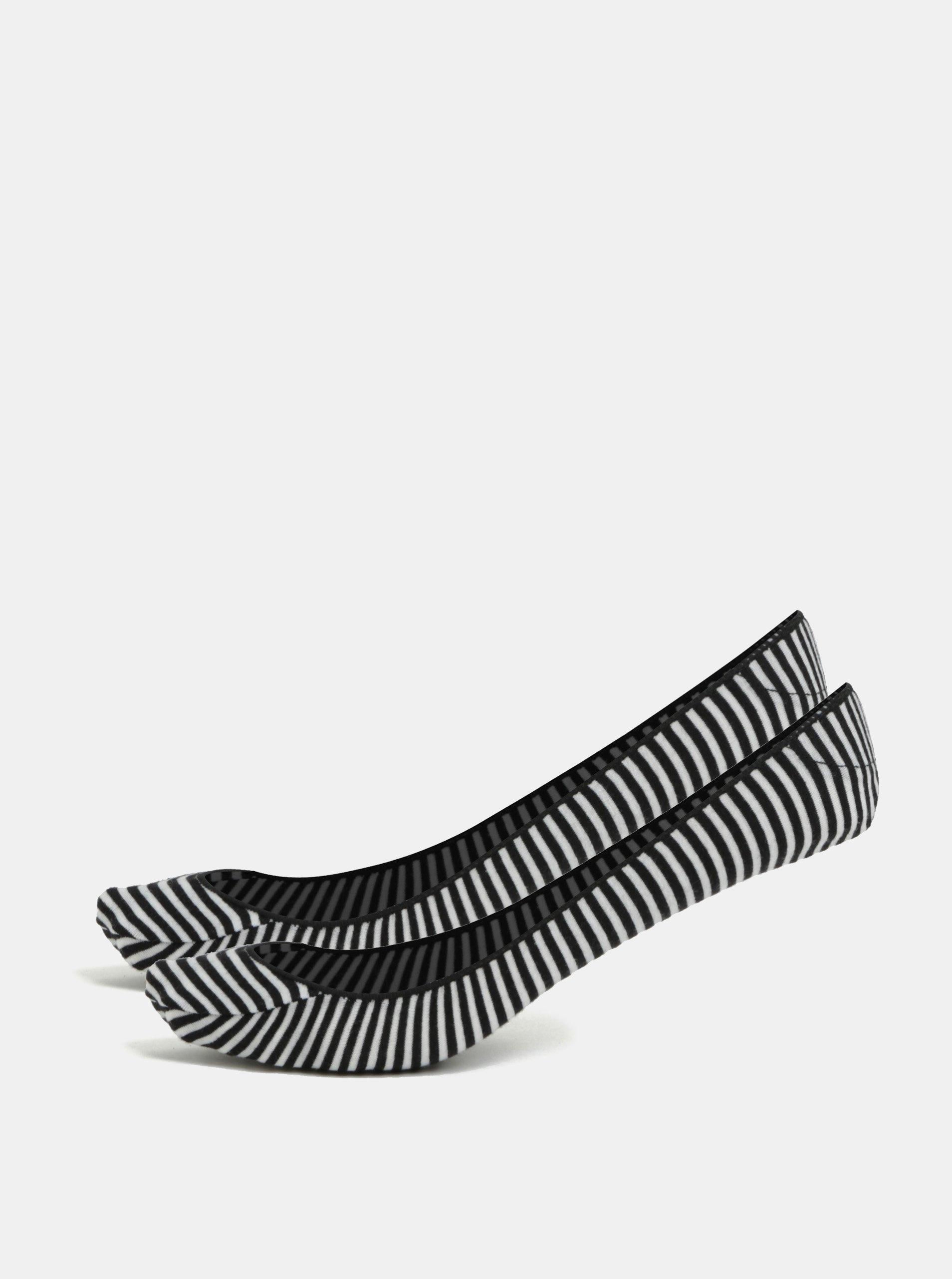 Sada dvou párů černých pruhovaných ponožek Andrea Bucci First 30 DEN