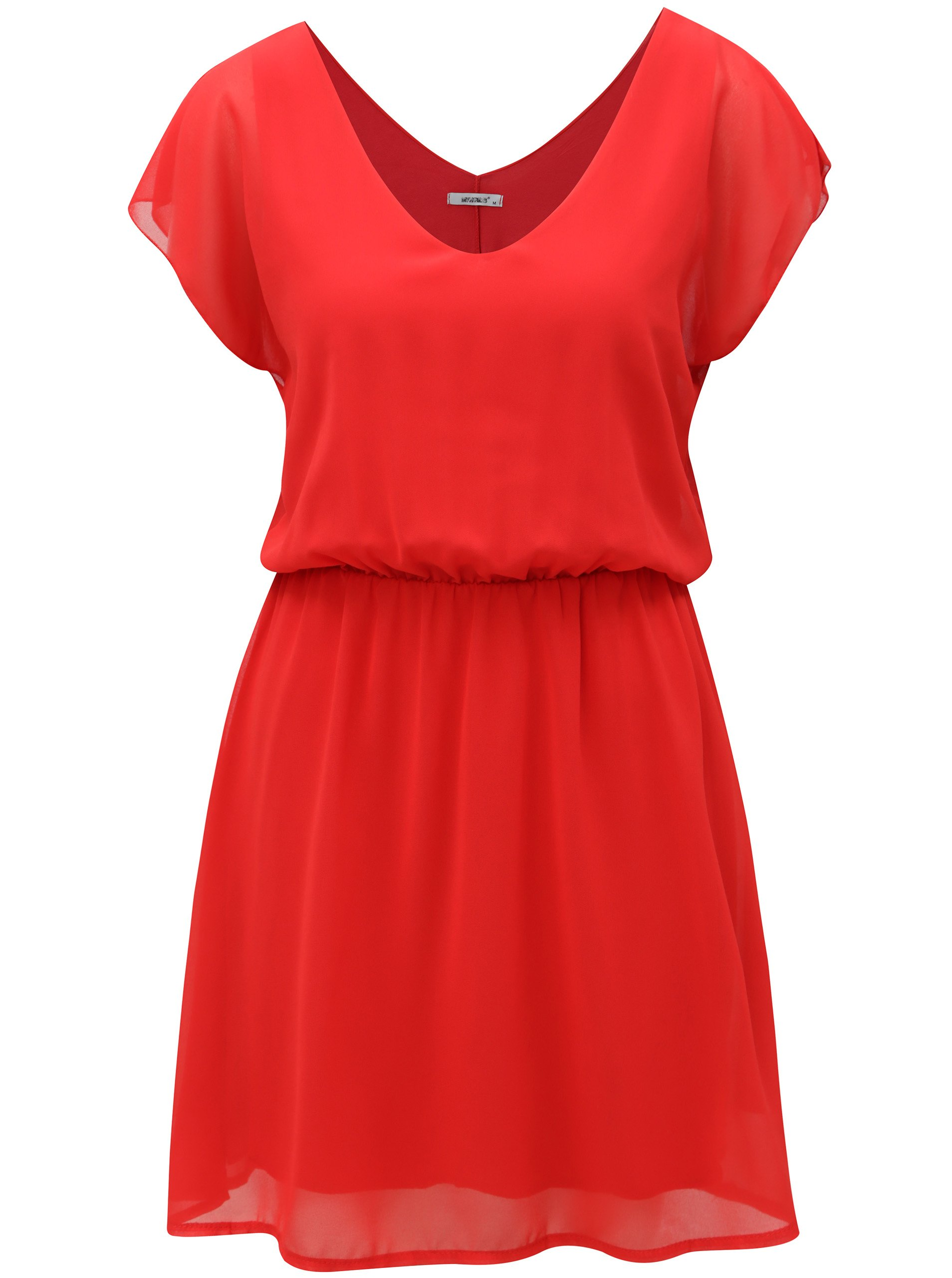 Červené šaty s véčkovým výstřihem Haily´s Anika