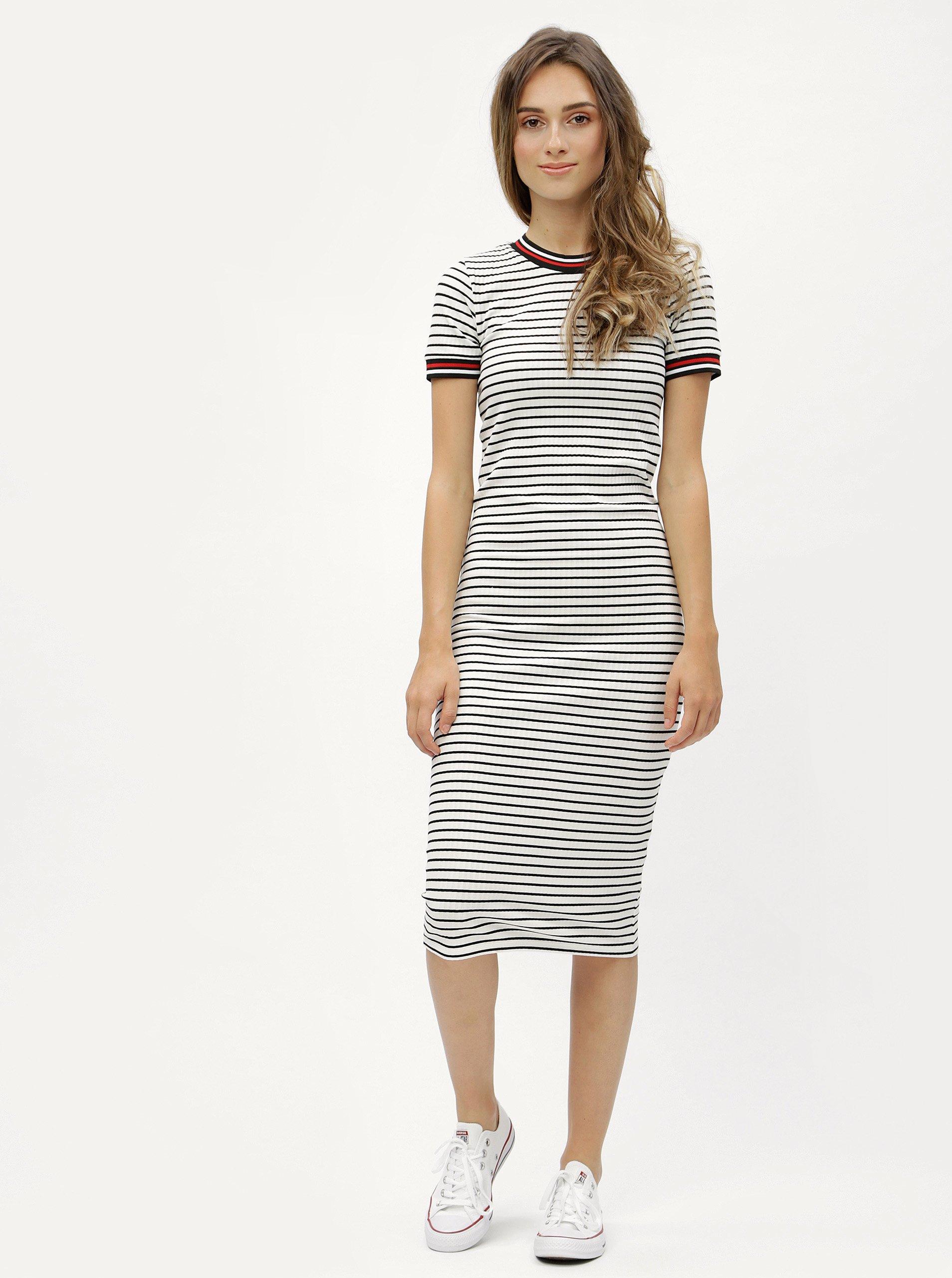 0f476d8593b Bílé pruhované šaty ONLY Lou