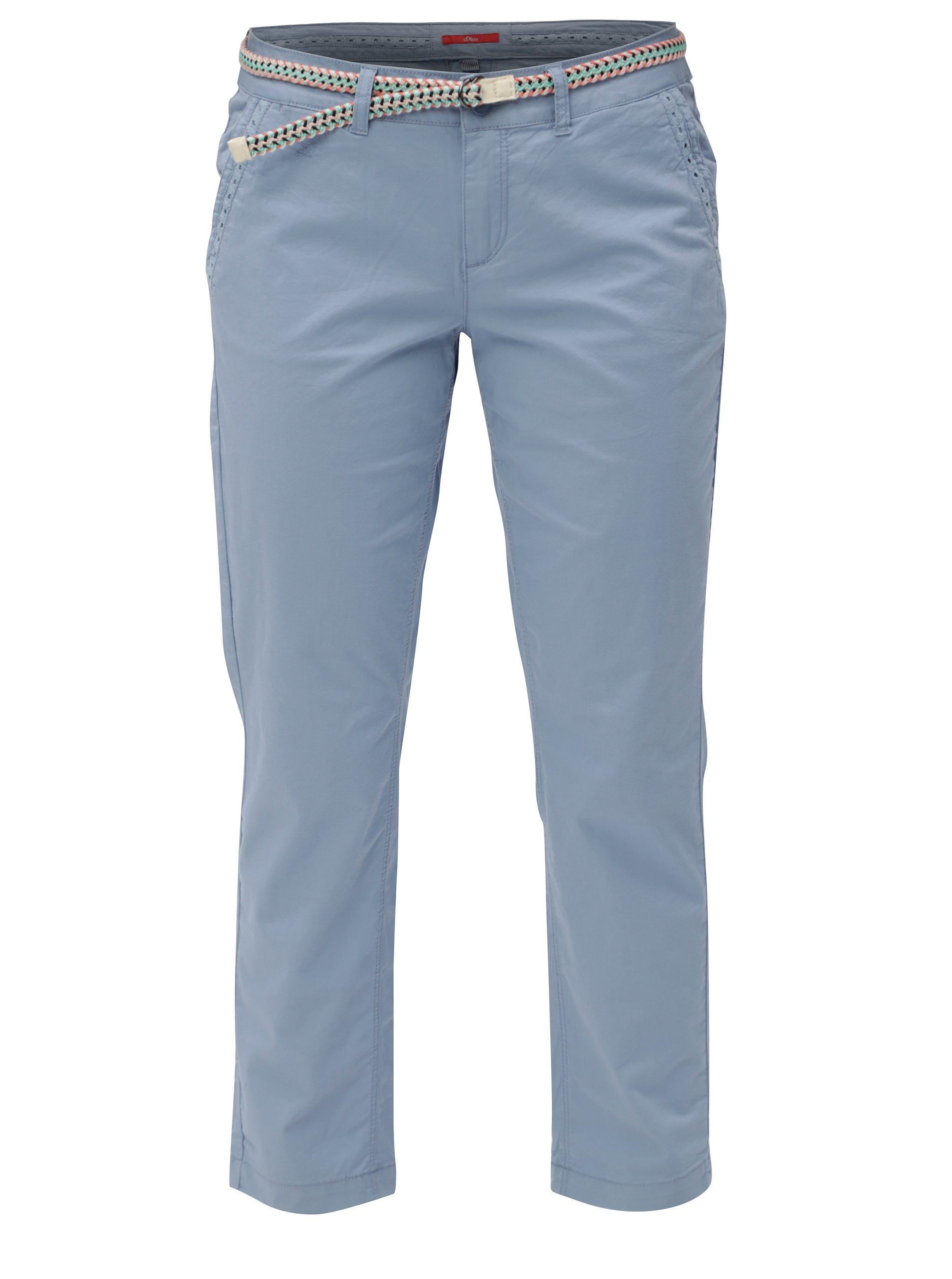 18143a0e7ca7 Modré dámske skrátené nohavice s.Oliver