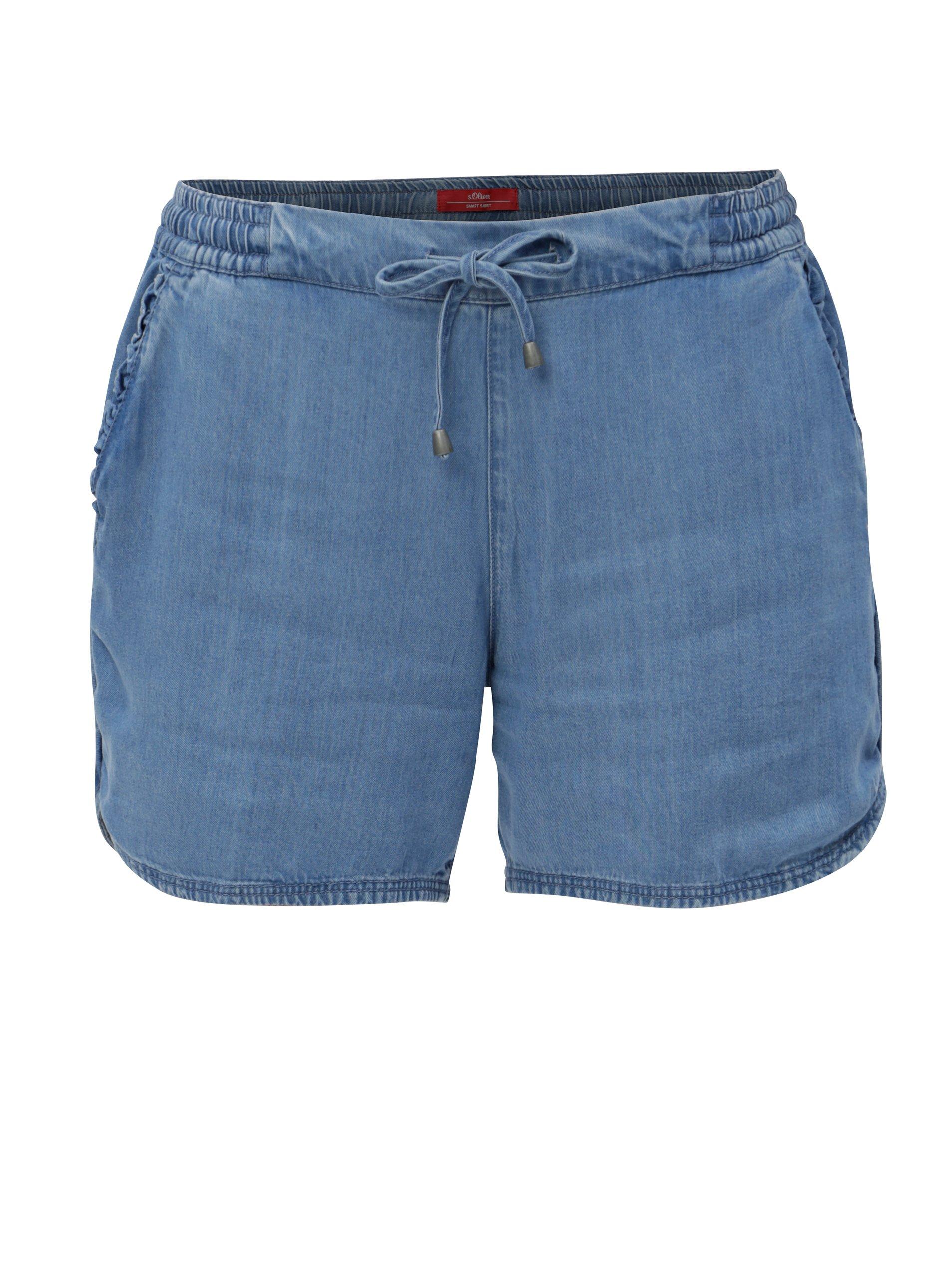 361a1de9331 Modré dámské džínové kraťasy s.Oliver