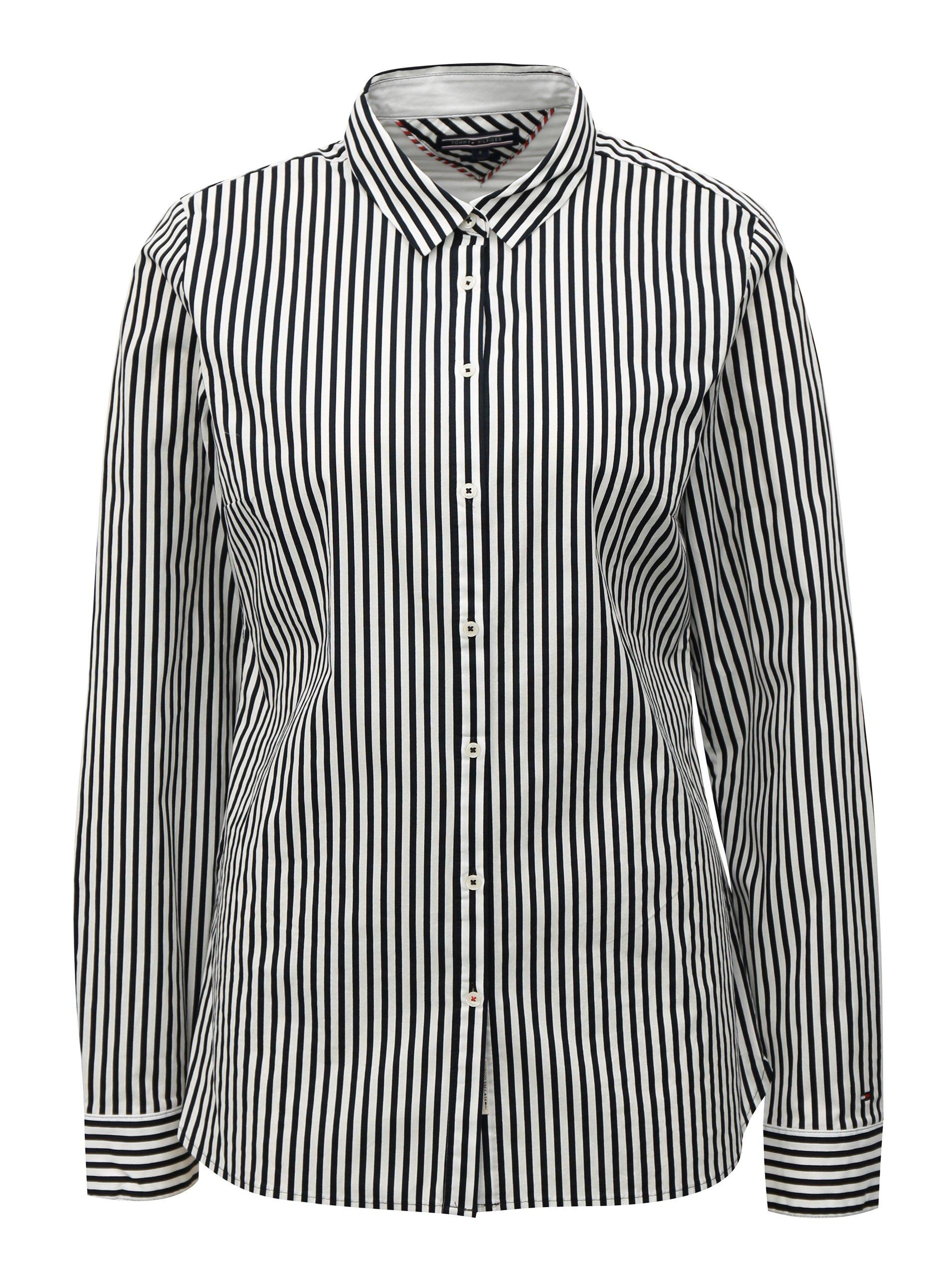 Černo-bílá dámská pruhovaná košile Tommy Hilfiger 137d90f7d2