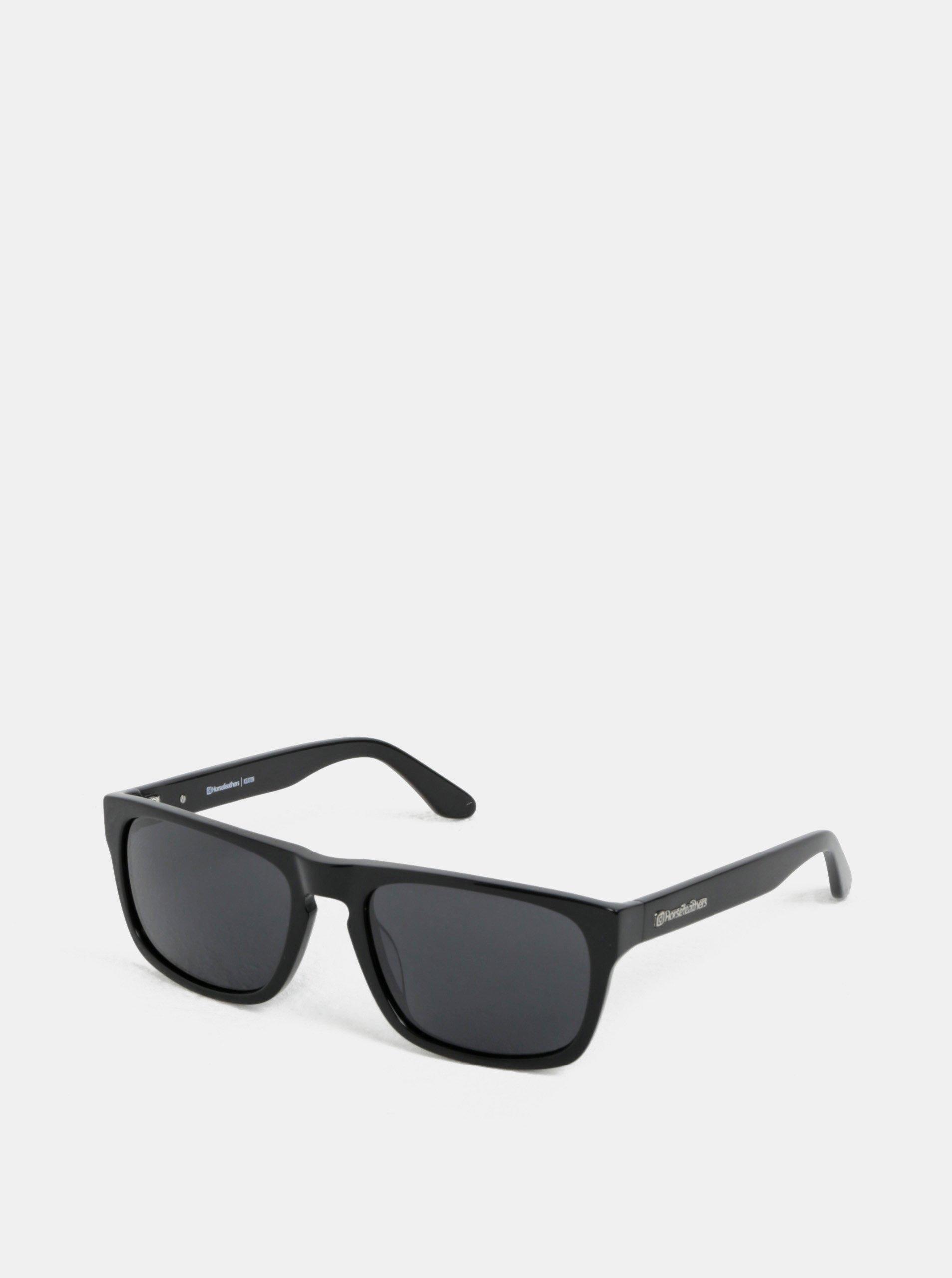 Černé pánské sluneční brýle Horsefeathers