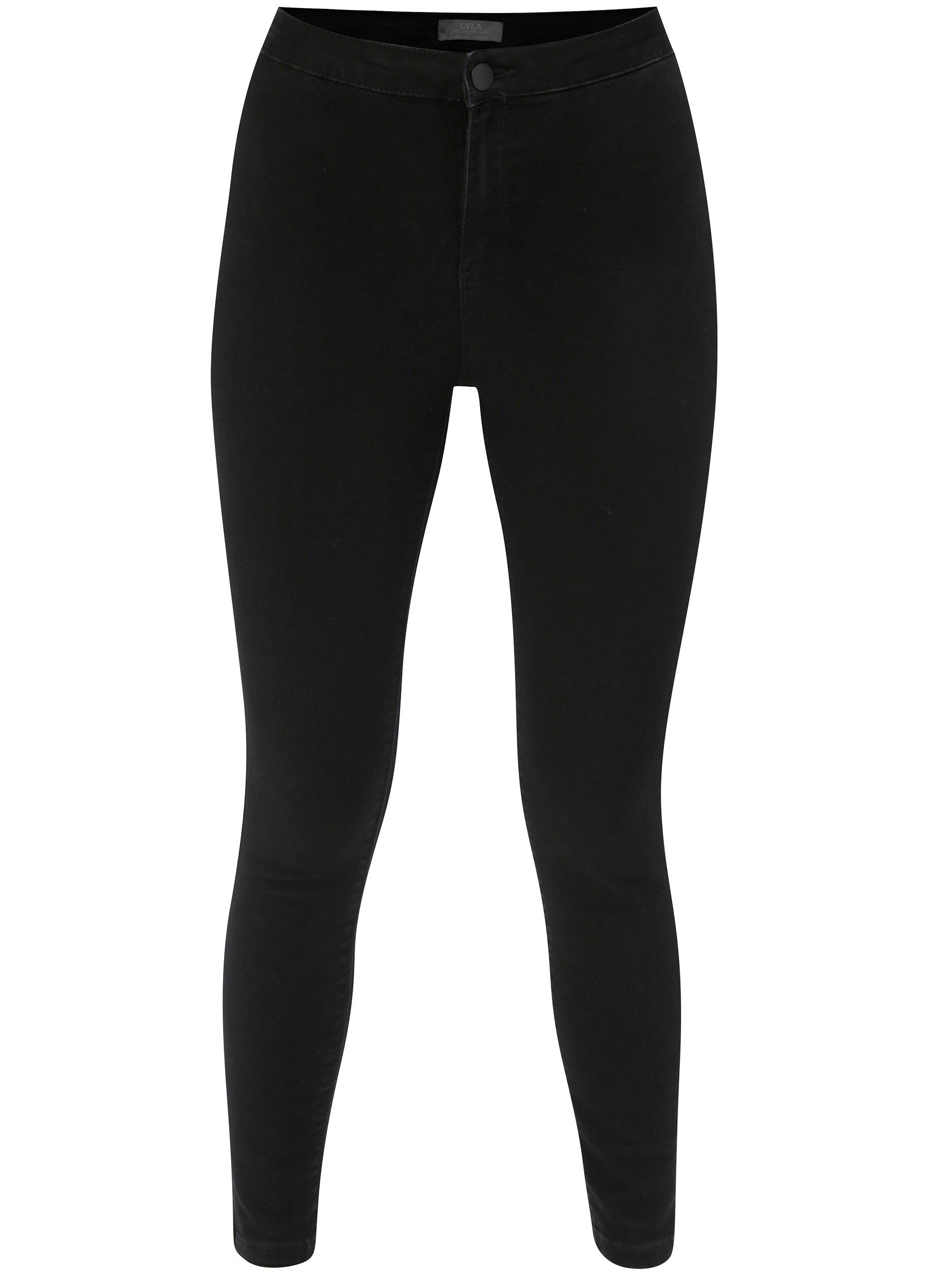 Černé skinny džíny s vysokým pasem Dorothy Perkins 9d46c049b2