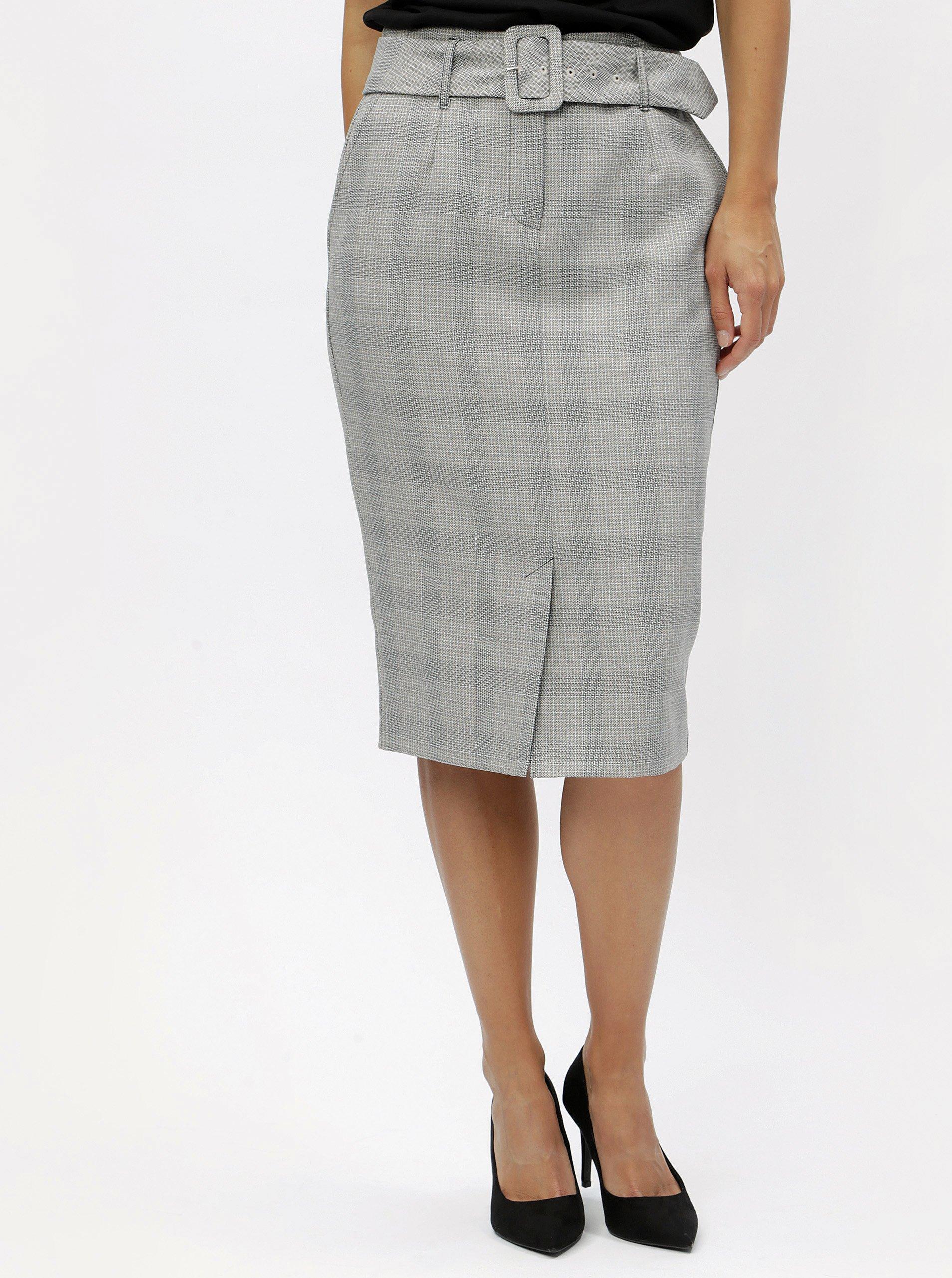 9843a74adddf Šedá vzorovaná pouzdrová sukně Dorothy Perkins