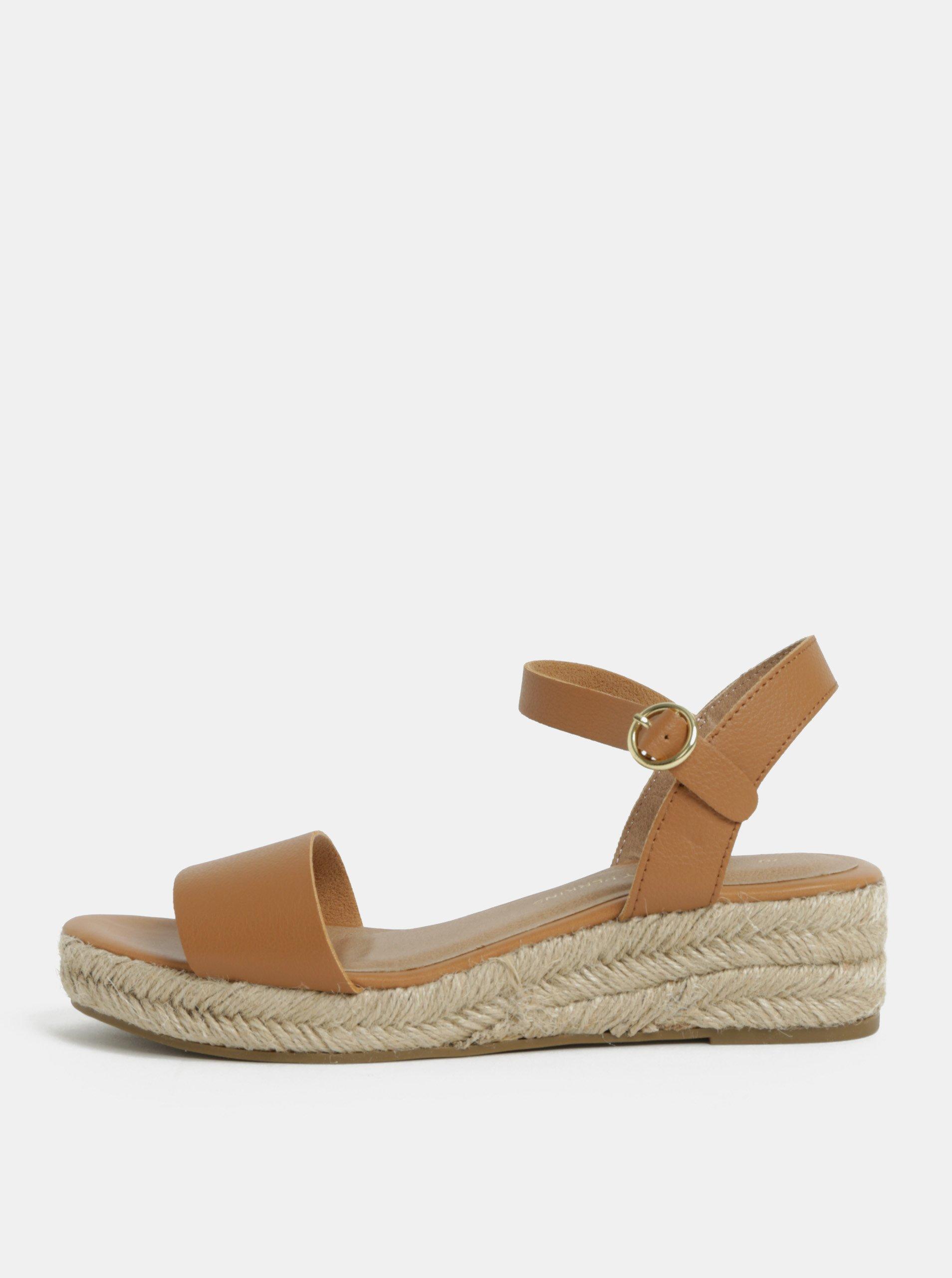 34744460135b9 Hnedé sandálky na platforme Dorothy Perkins