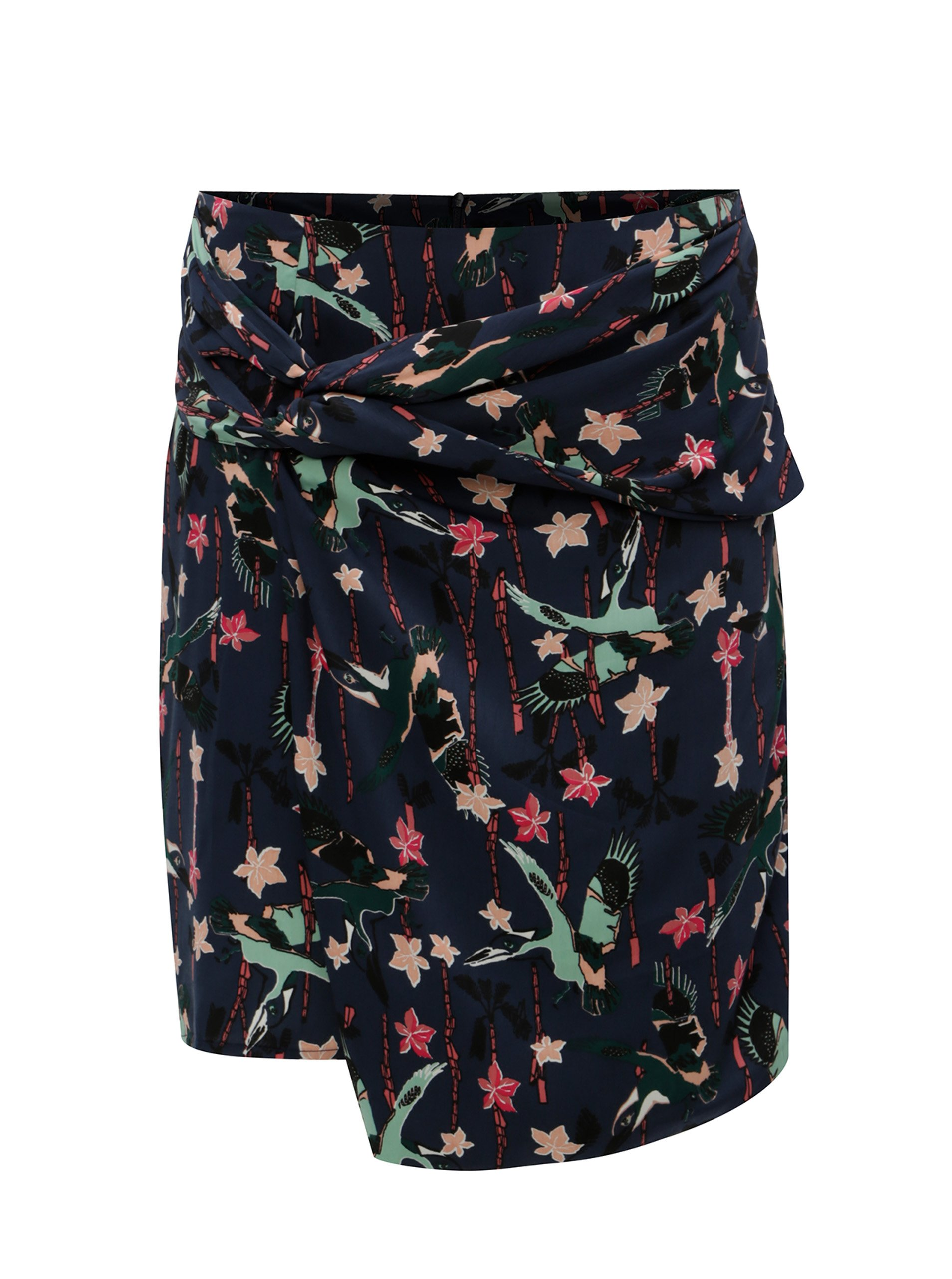 58f33916eb98 Tmavomodrá asymetrická vzorovaná sukňa Garcia Jeans