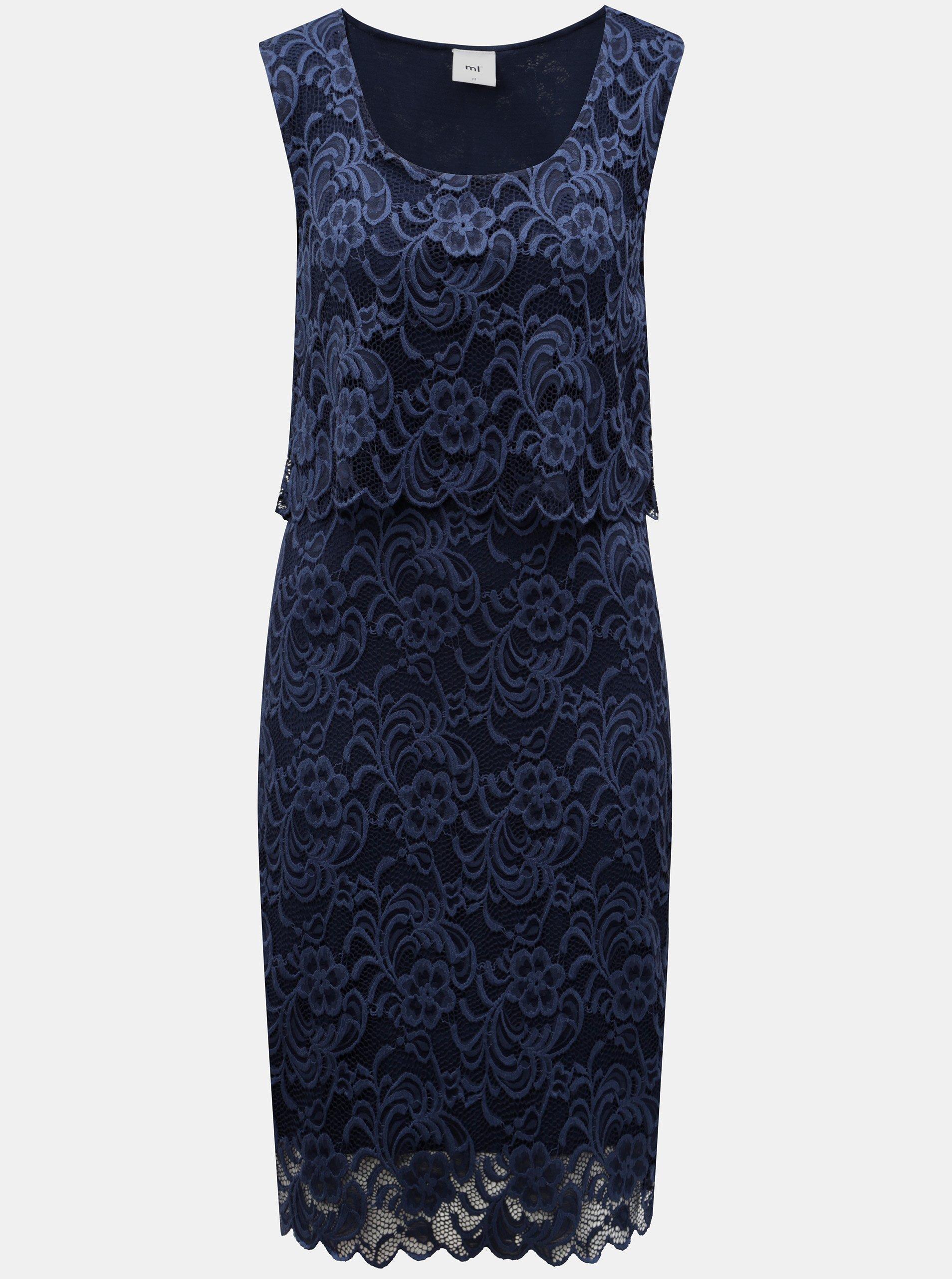 Tmavě modré kojicí krajkové šaty bez rukávu Mama.licious 1da6893c2f