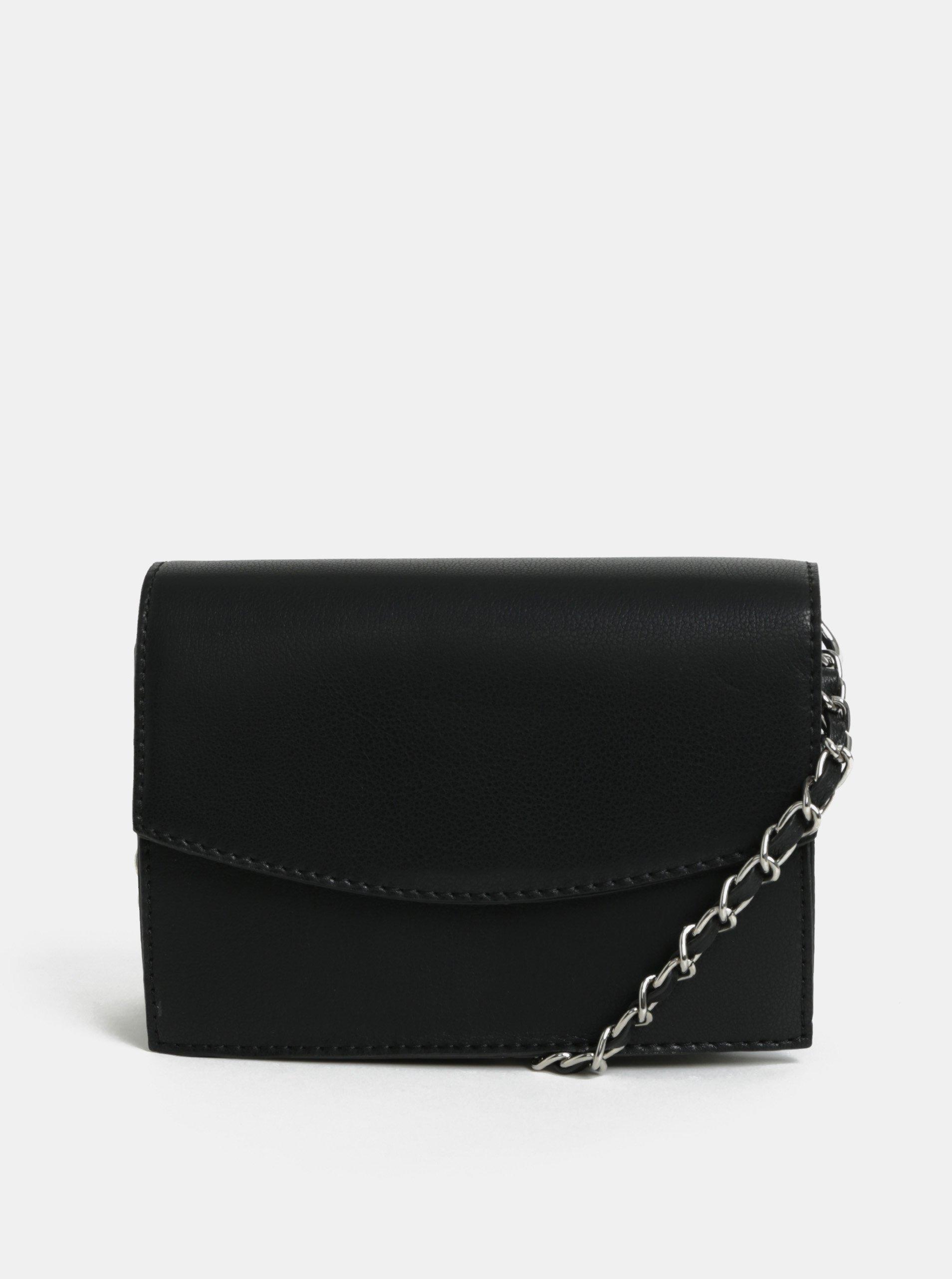 Černá crossbody kabelka Pieces Freja