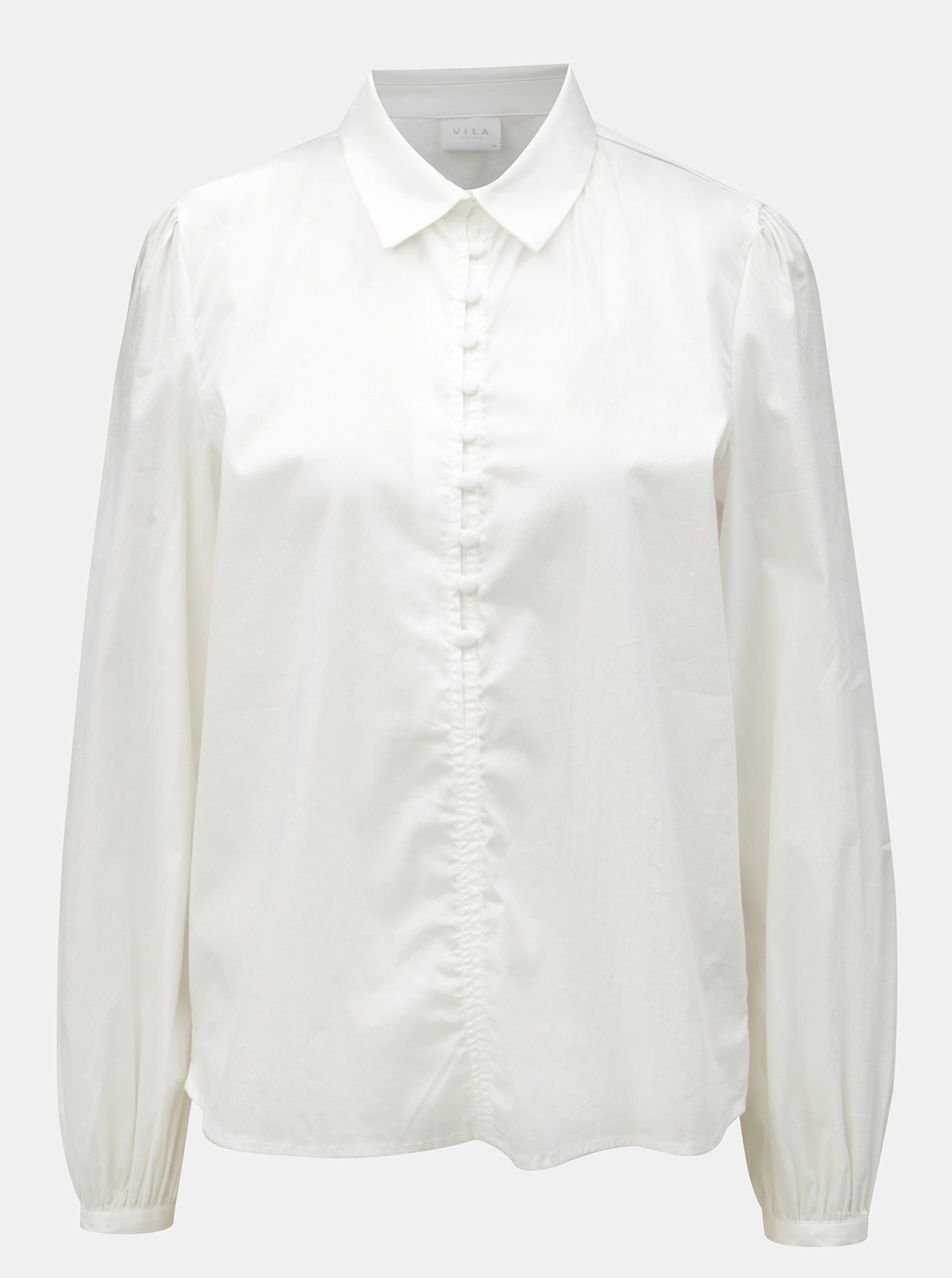 Bílá košile VILA Placket