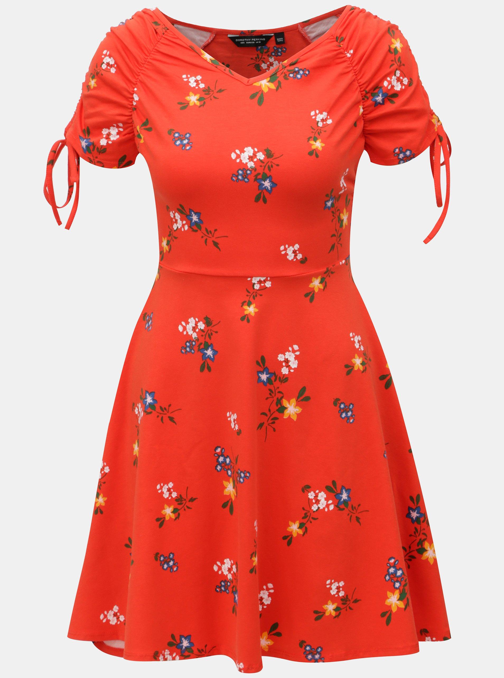 abe79be7f7e8 Červené vzorované šaty Dorothy Perkins