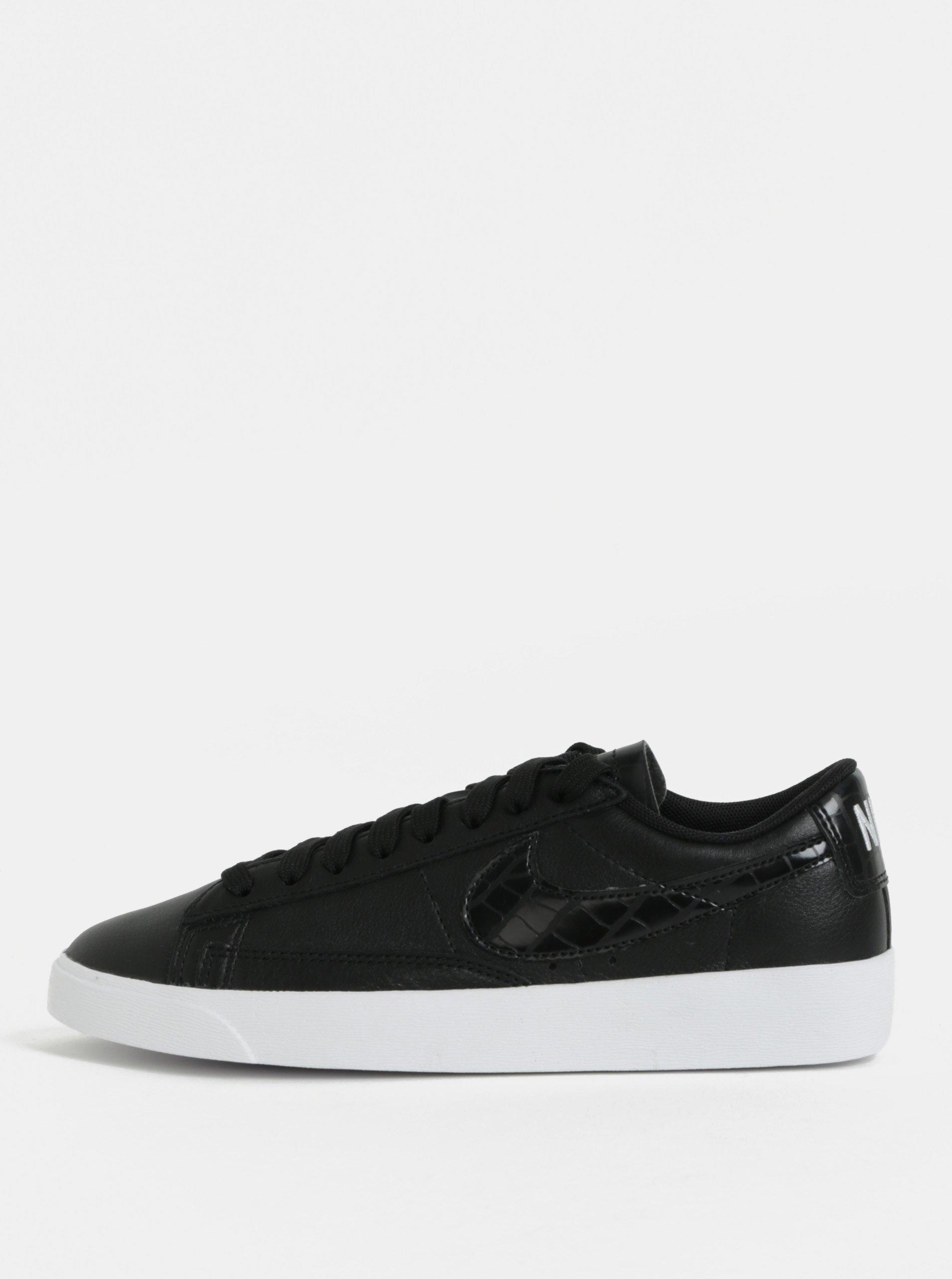 Černé dámské kožené tenisky Nike Blazer Low Leather