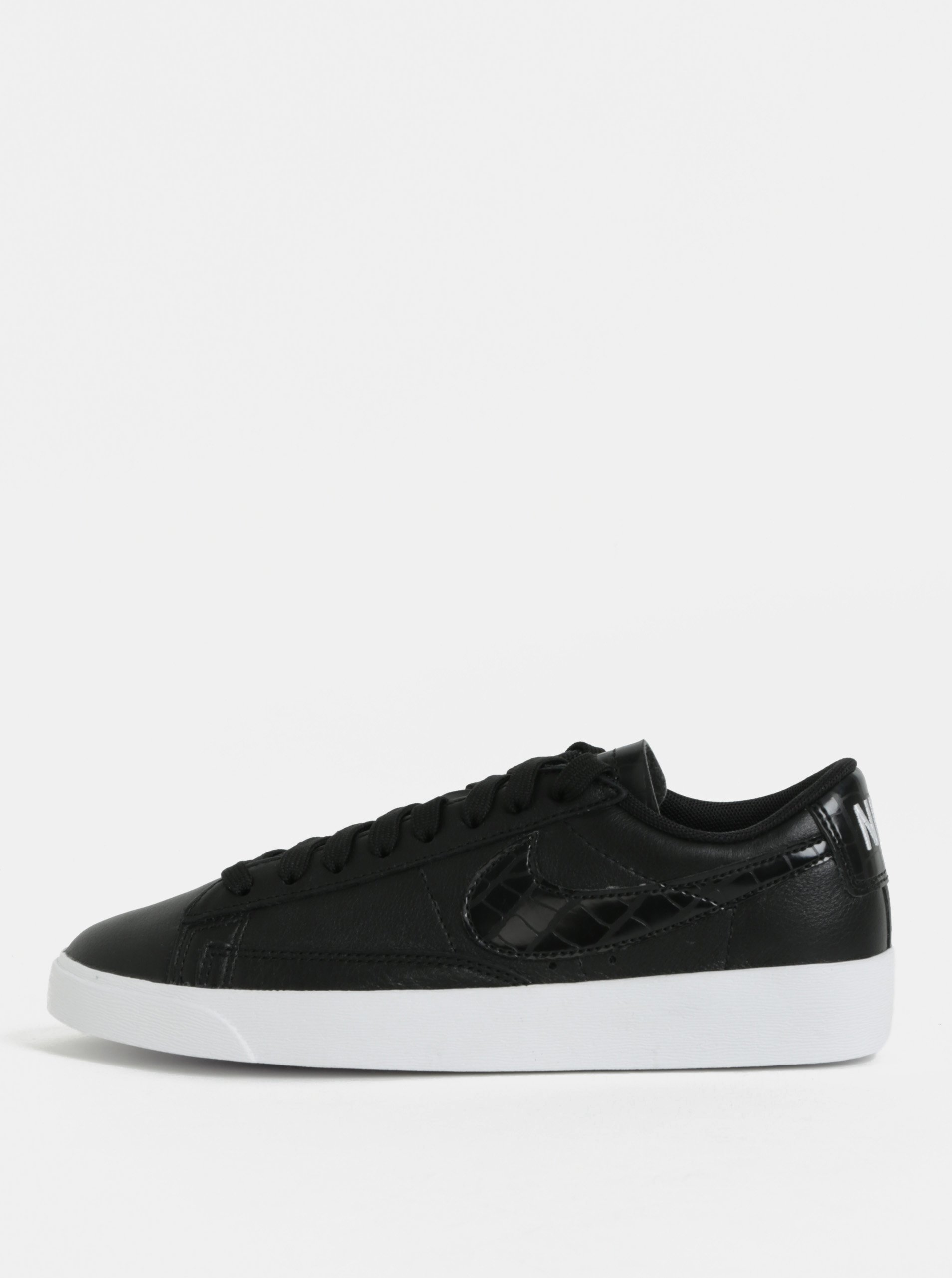 Čierne dámske kožené tenisky Nike Blazer Low Leather