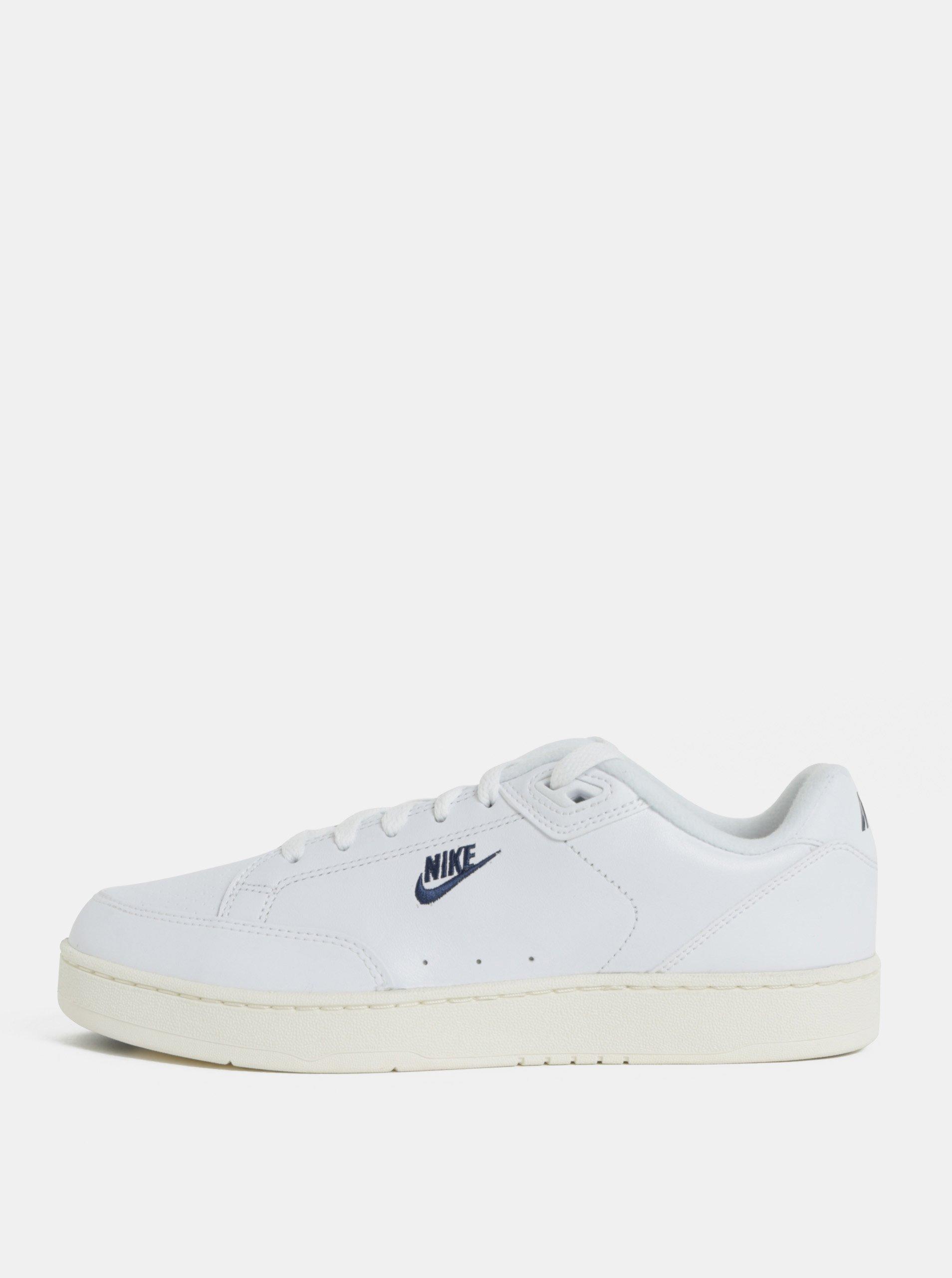 Bílé pánské kožené tenisky Nike Grandstand II 1d42621a95