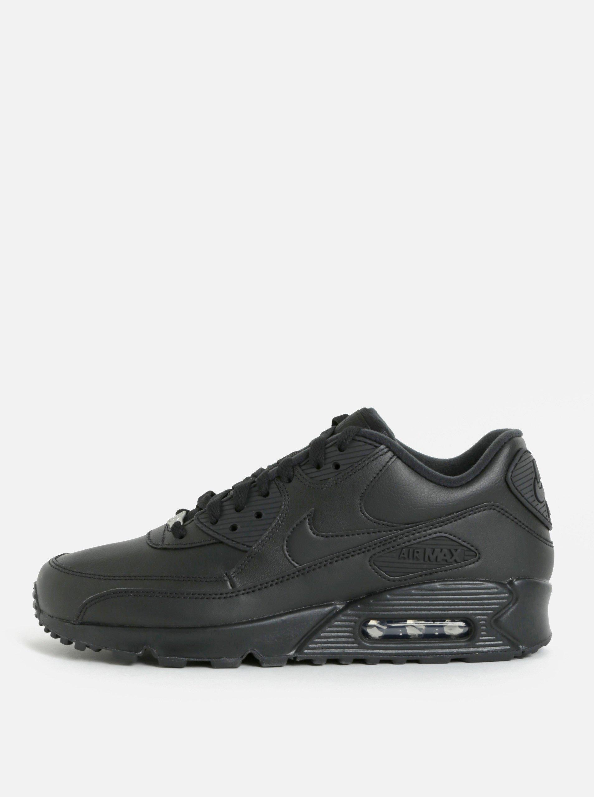 Černé pánské kožené tenisky Nike Air Max '90 Leather