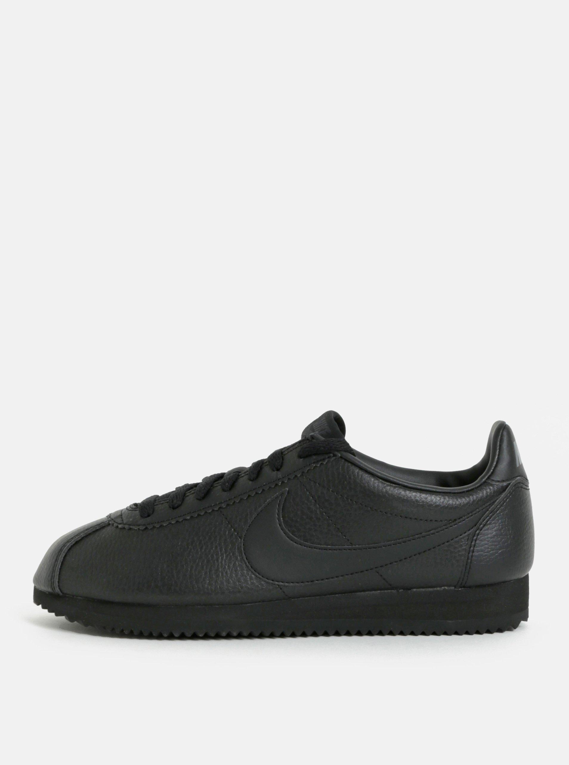 Černé pánské kožené tenisky Nike Classic Leather bf273f1a70
