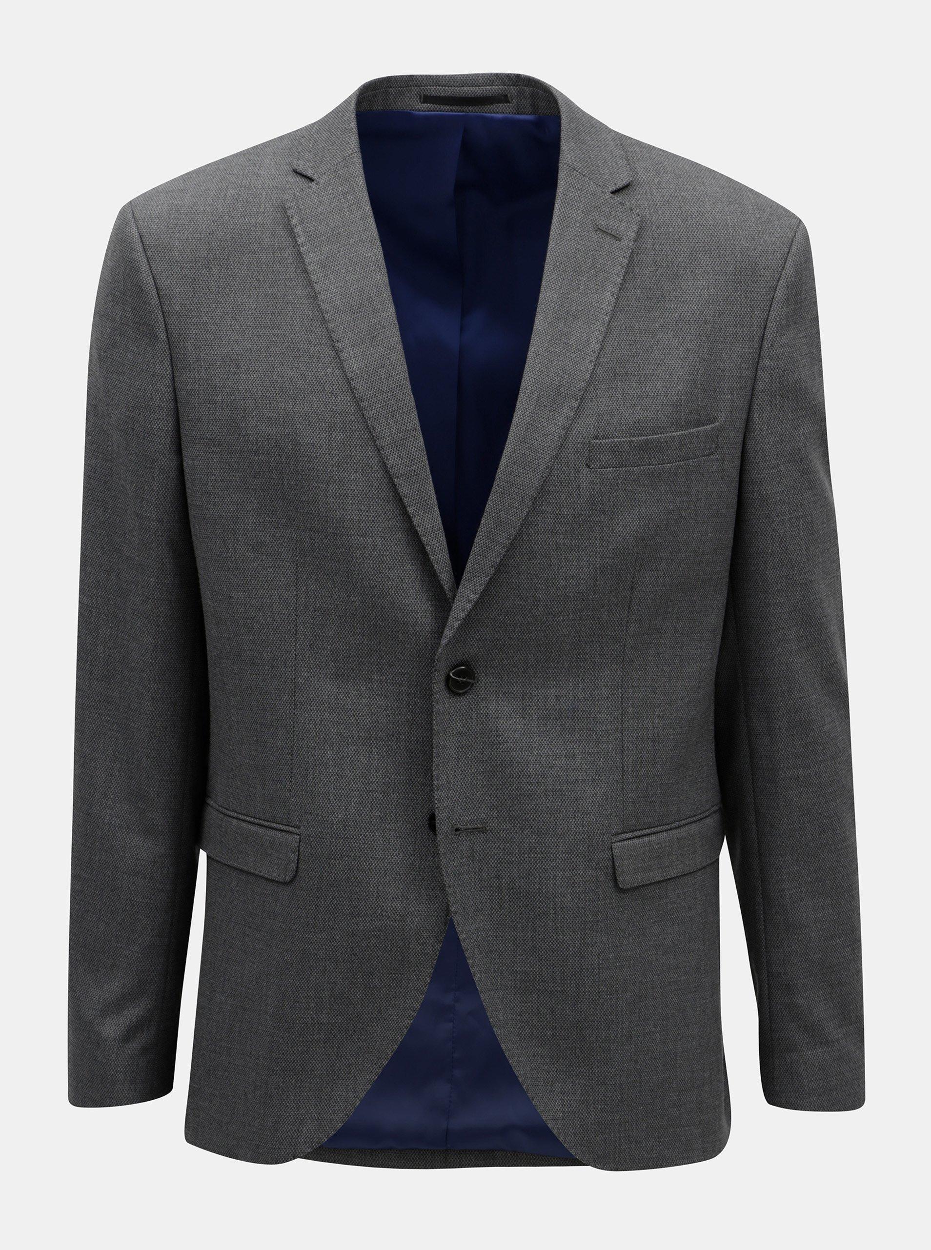 Šedé oblekové sako Selected Homme