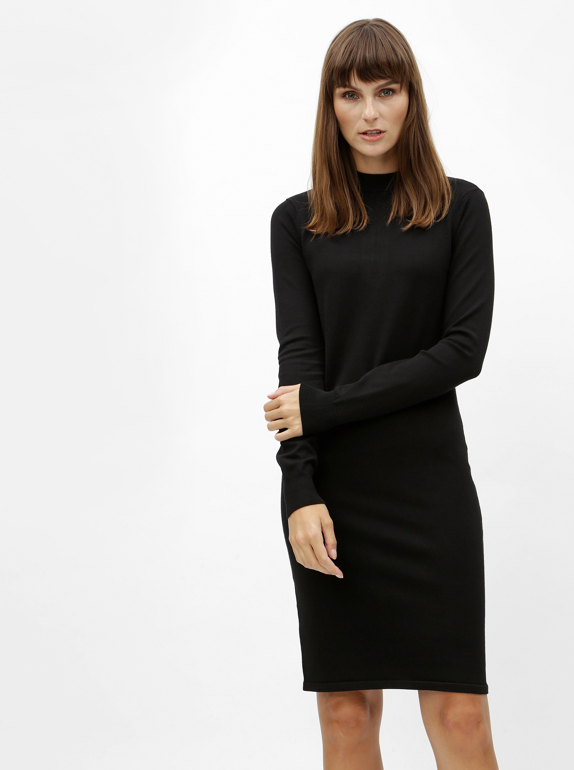 90b3511da83e Čierne šaty s dlhým rukávom Noisy May Cirus