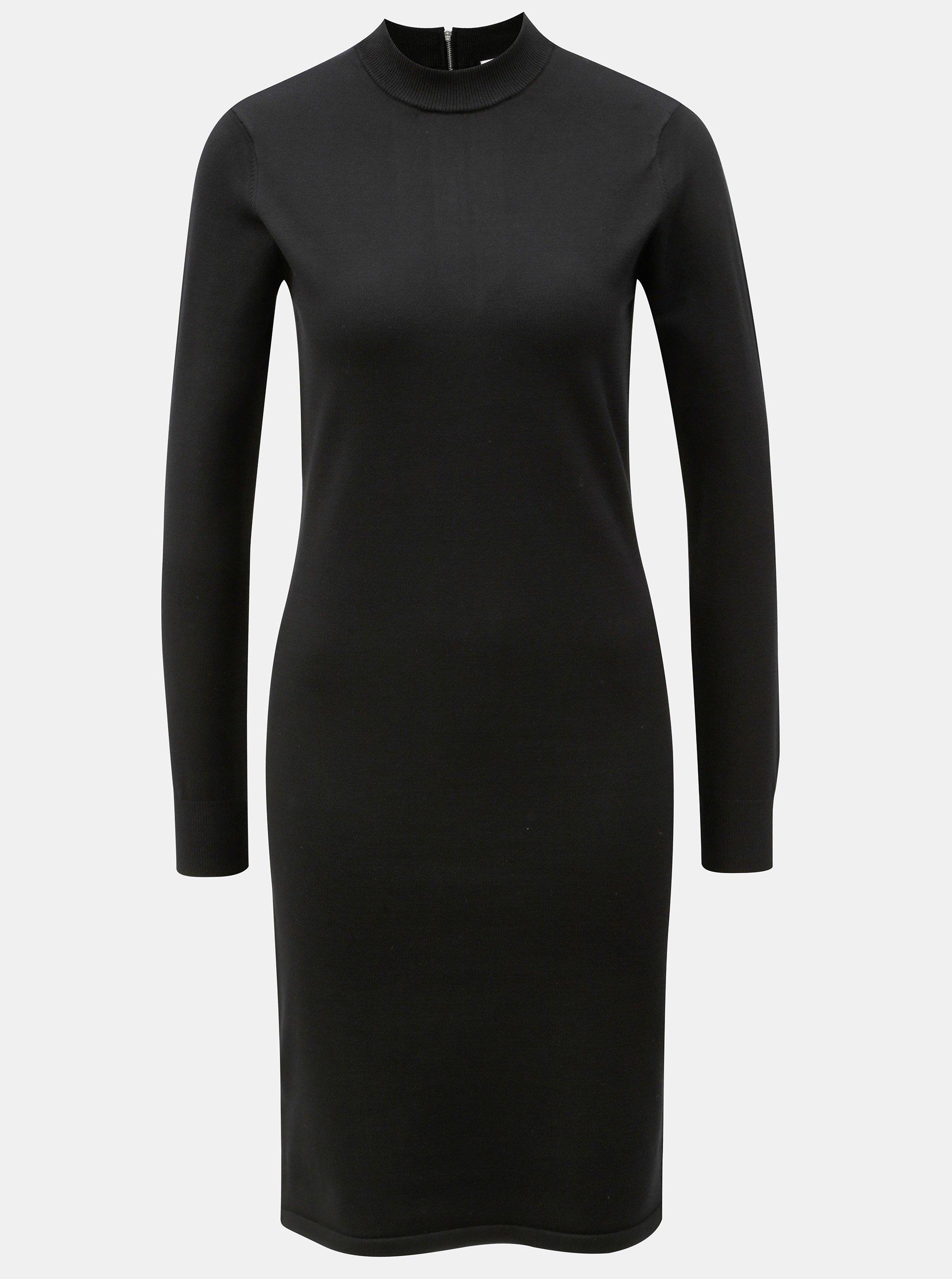 1c4ebaa8ee81 Čierne šaty s dlhým rukávom Noisy May Cirus