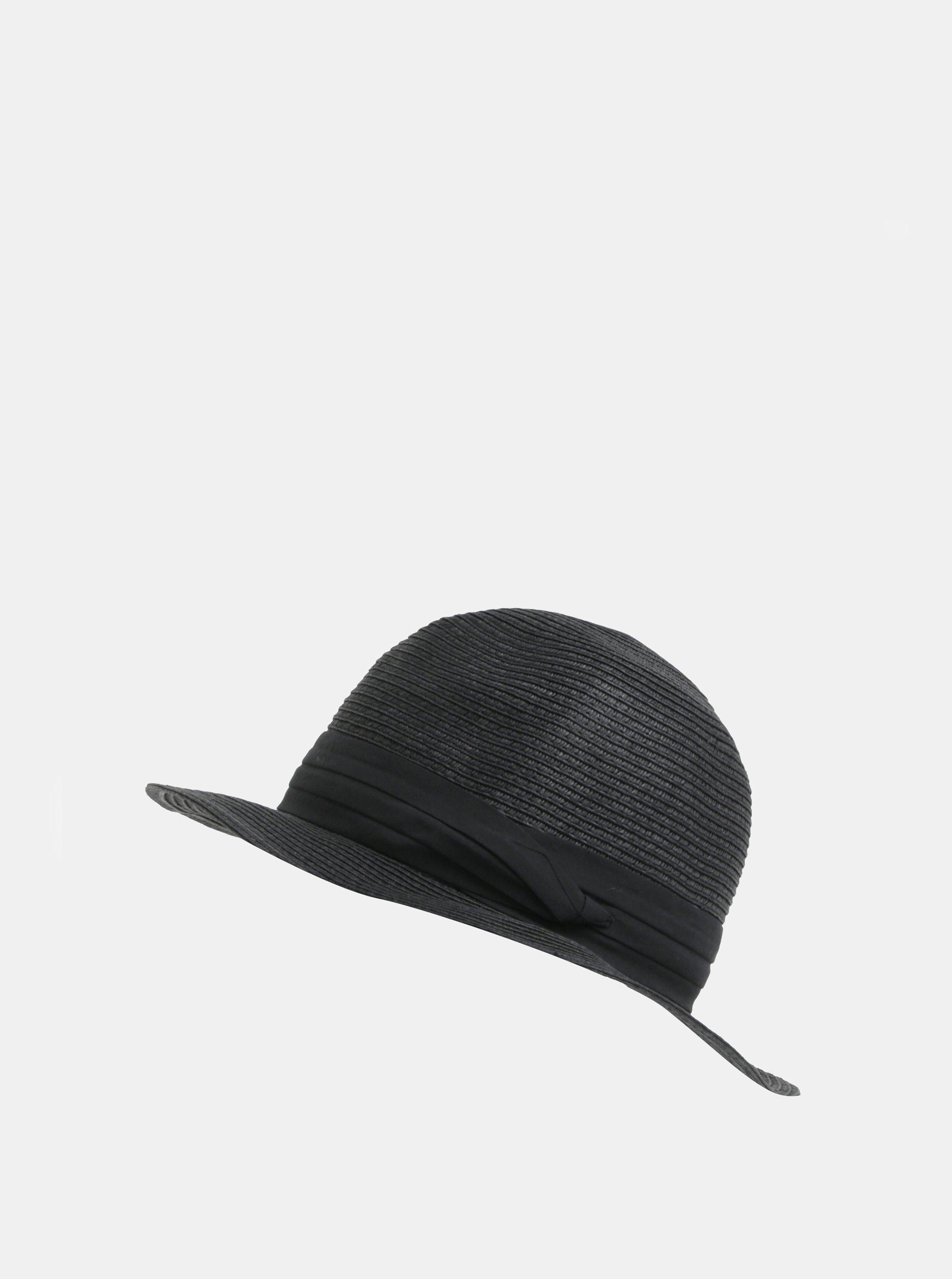 Černý klobouk Pieces Ida