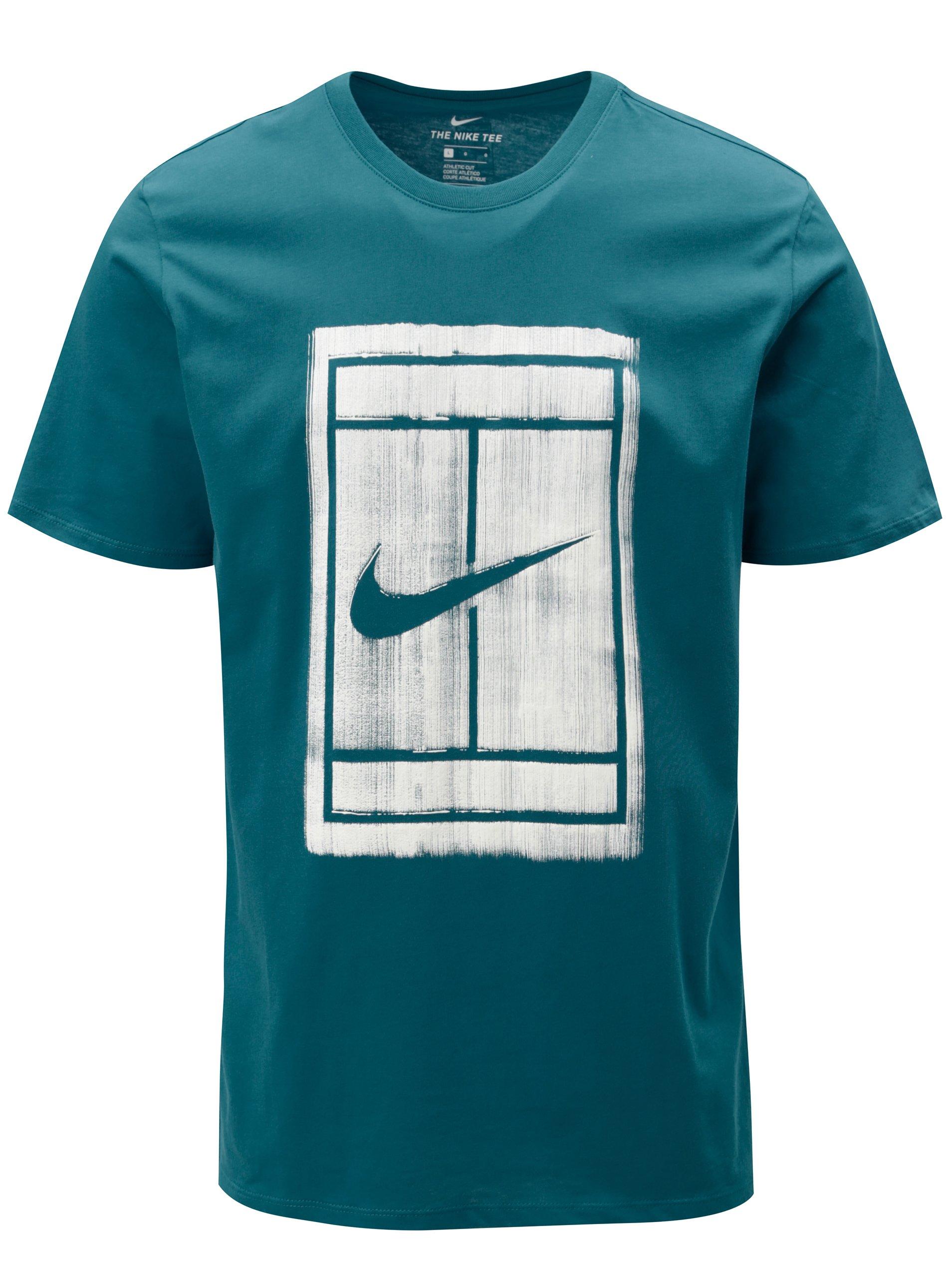 Petrolejové pánské tričko s potiskem Nike