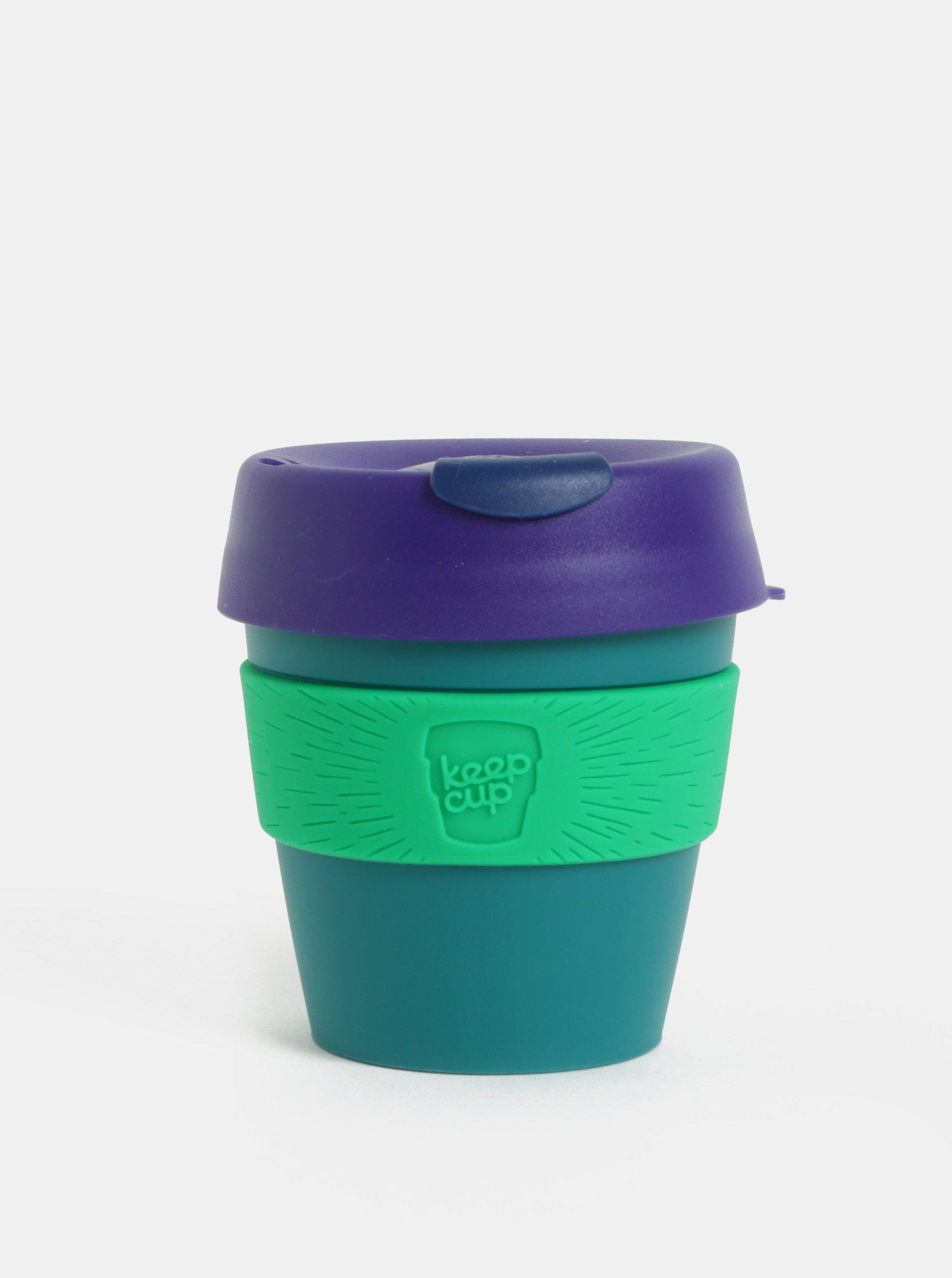Fialovo-zelený cestovný hrnček KeepCup Original Small