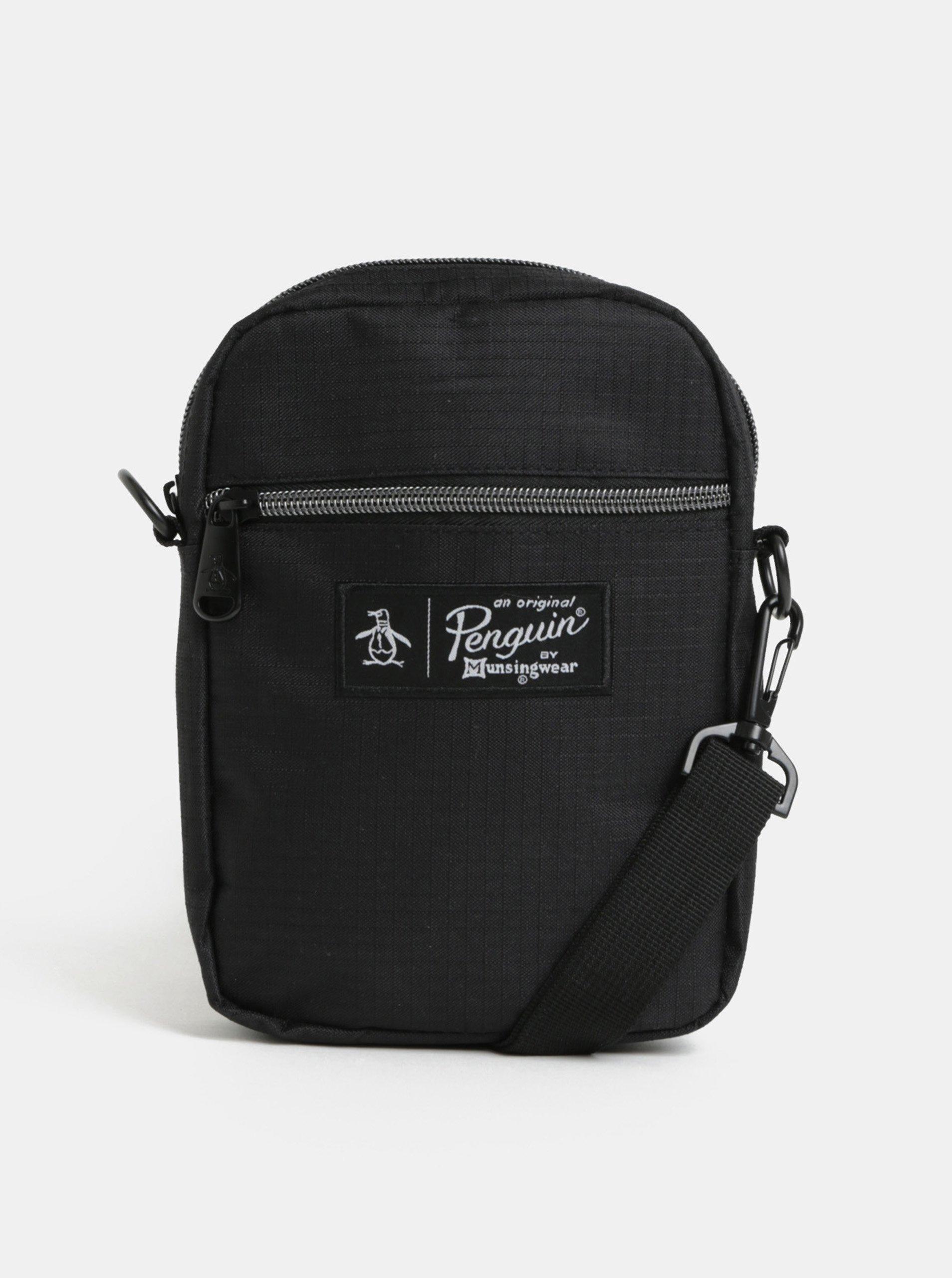 Černá crossbody taška s nášivkou Original Penguin Scott Cross Body