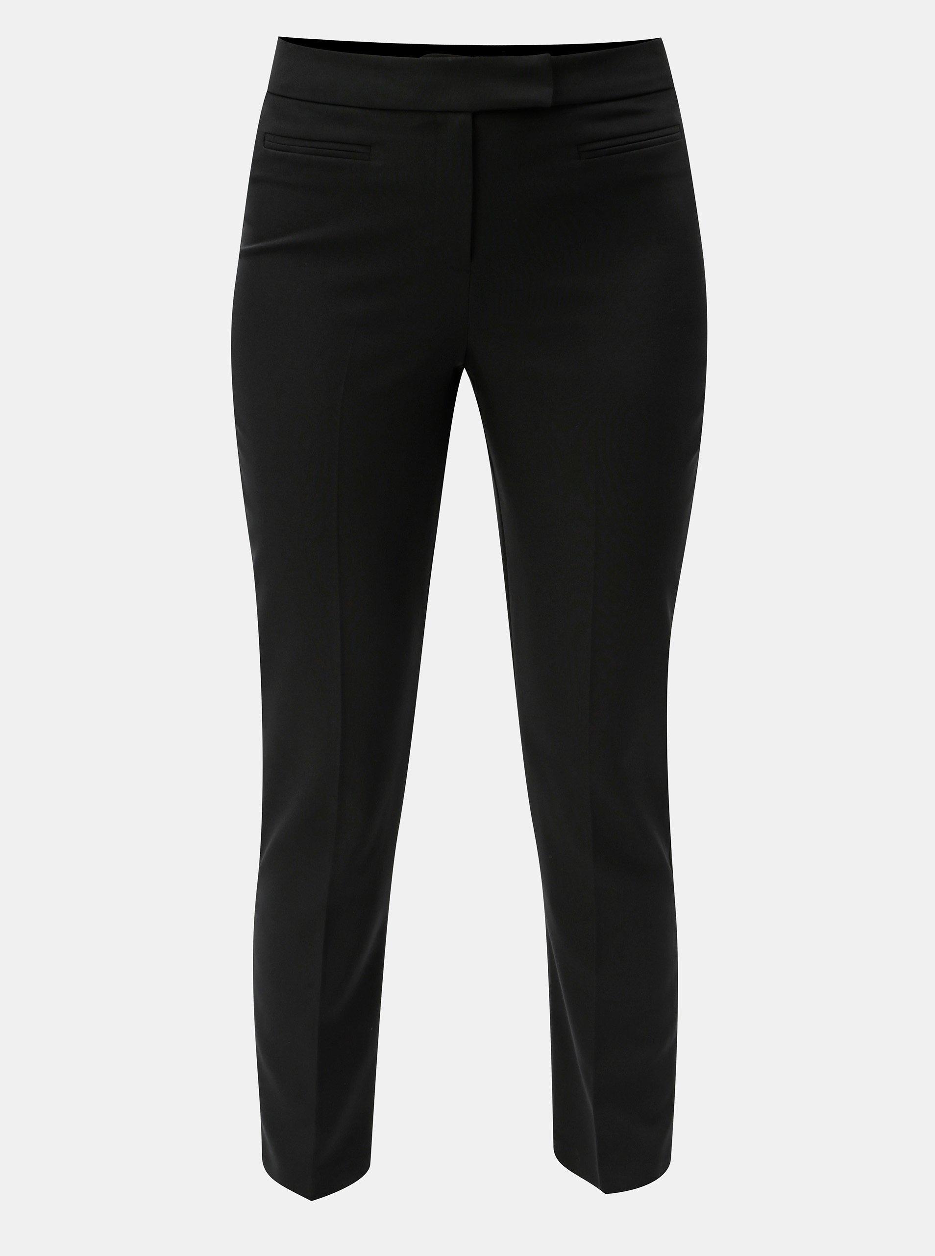 Černé společenské kalhoty s vysokým pasem Dorothy Perkins