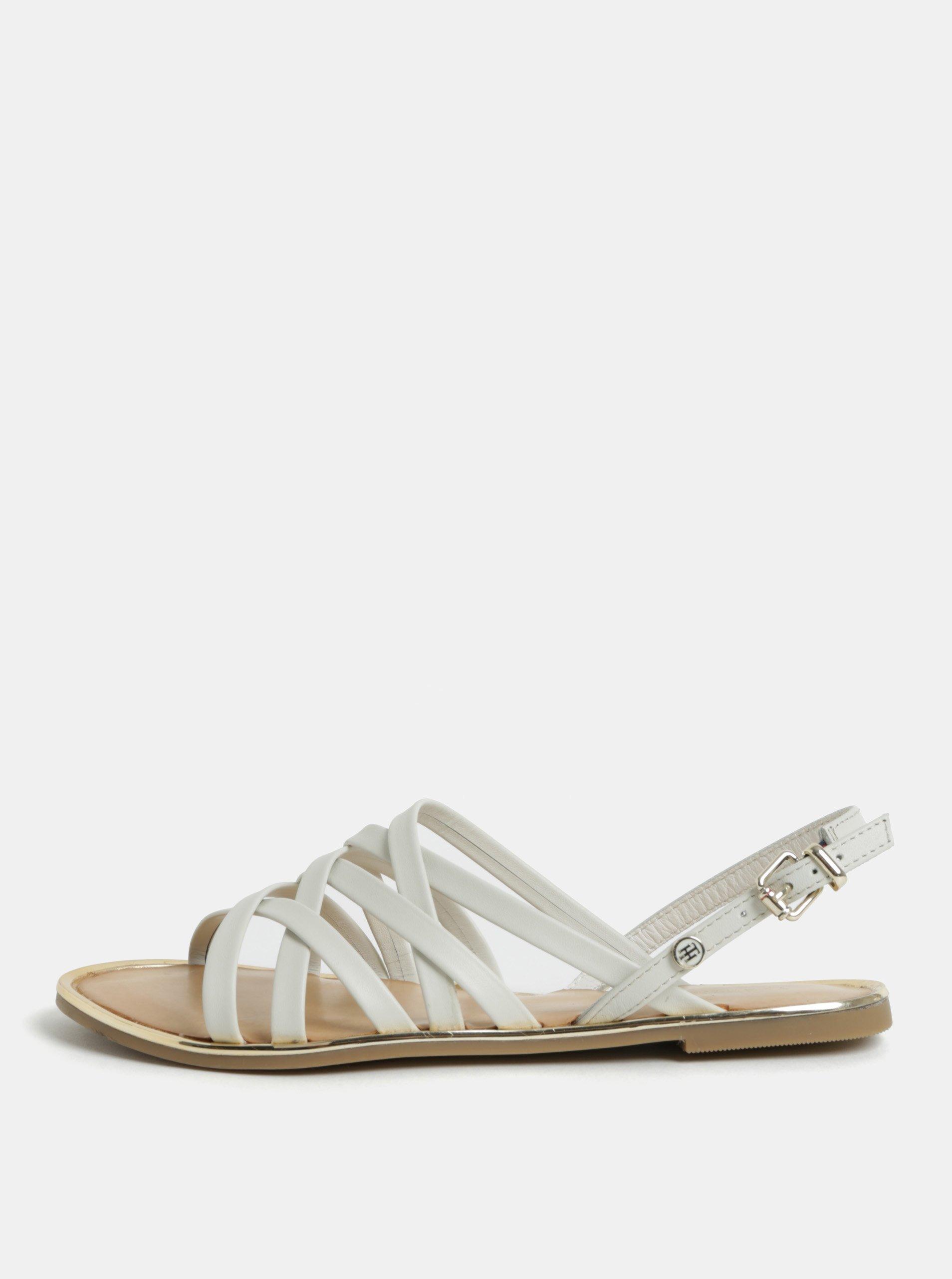 9711652fb0d3 Bílé dámské kožené sandály Tommy Hilfiger