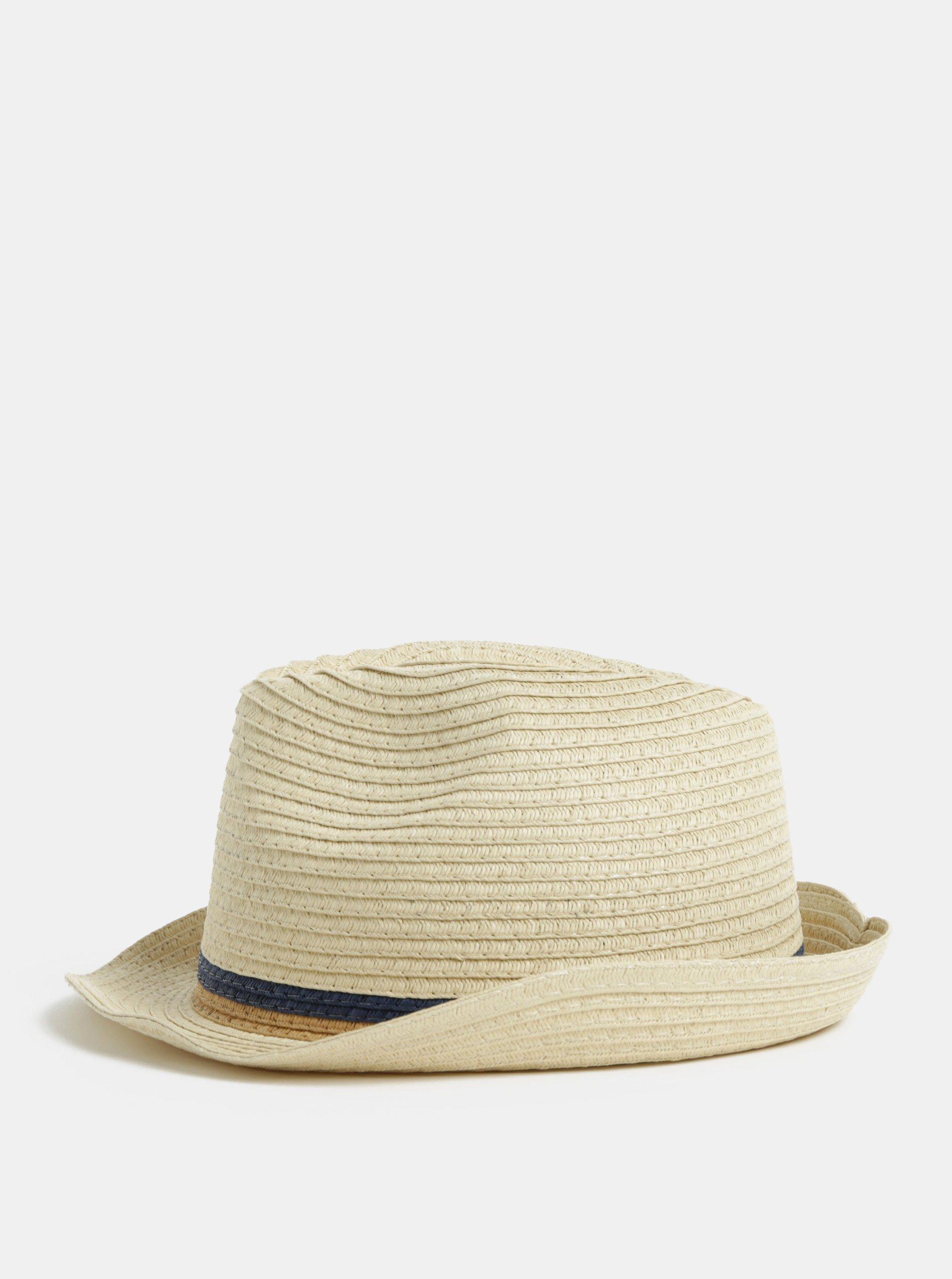 a6b7d2c82da Béžový klobouk s pruhy Burton Menswear London