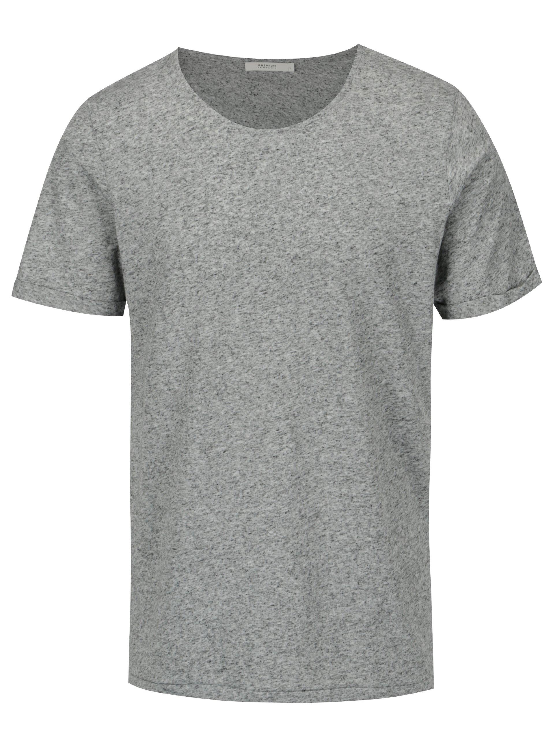 e3fec951fc6b Šedé žíhané basic tričko s příměsí lnu Jack   Jones Randy