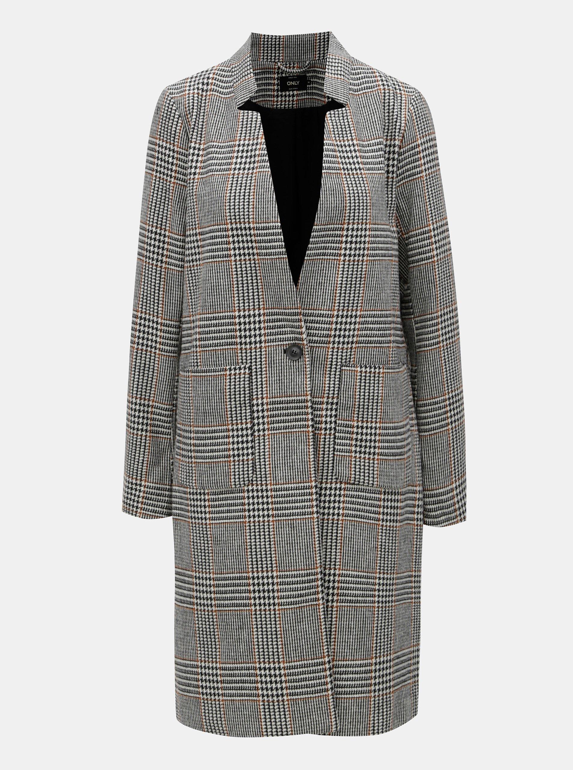 Béžovo-černý  kabát ONLY Helen