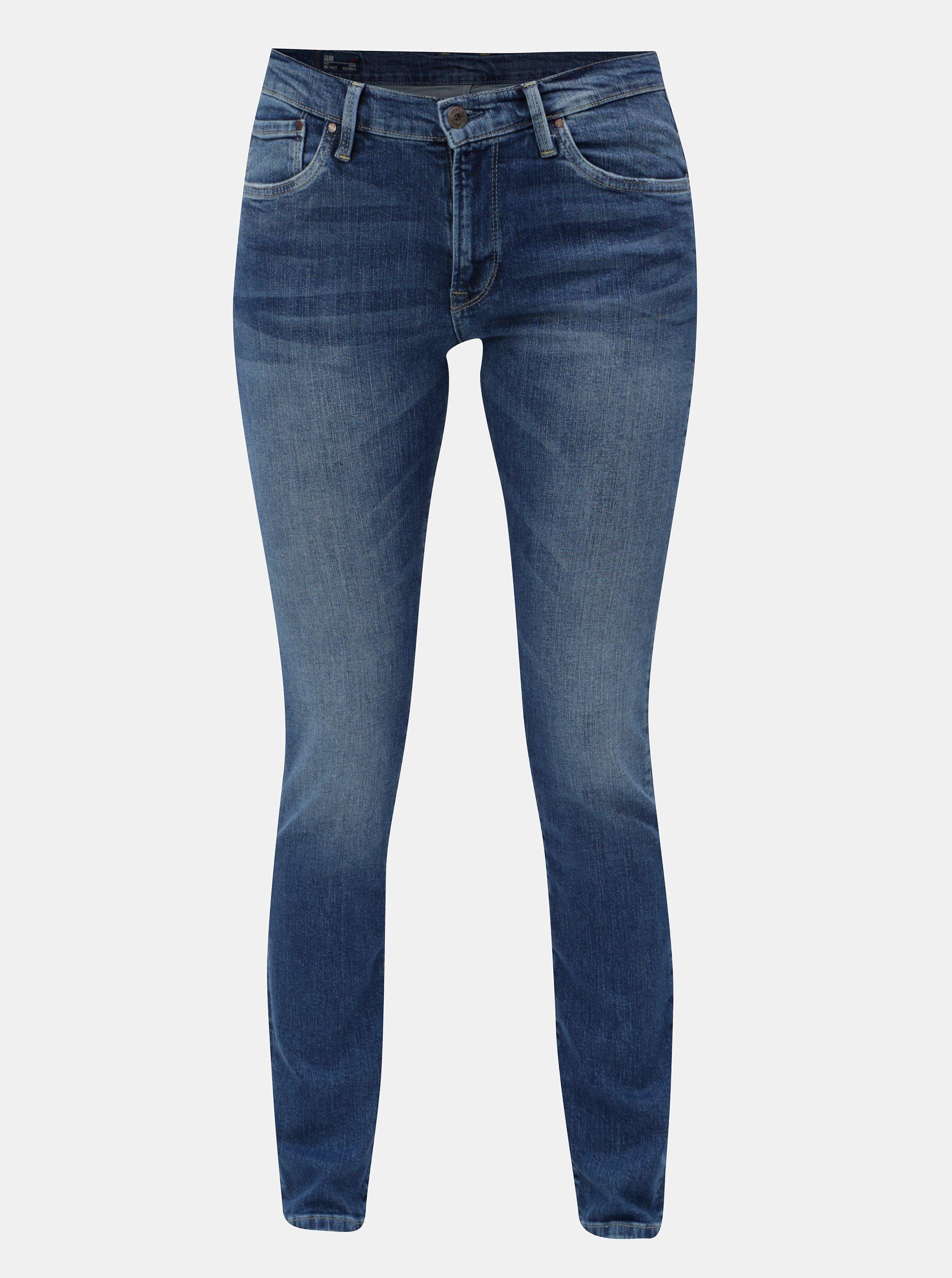 Modré dámské slim džíny Pepe Jeans Victoria 441bbb29d5