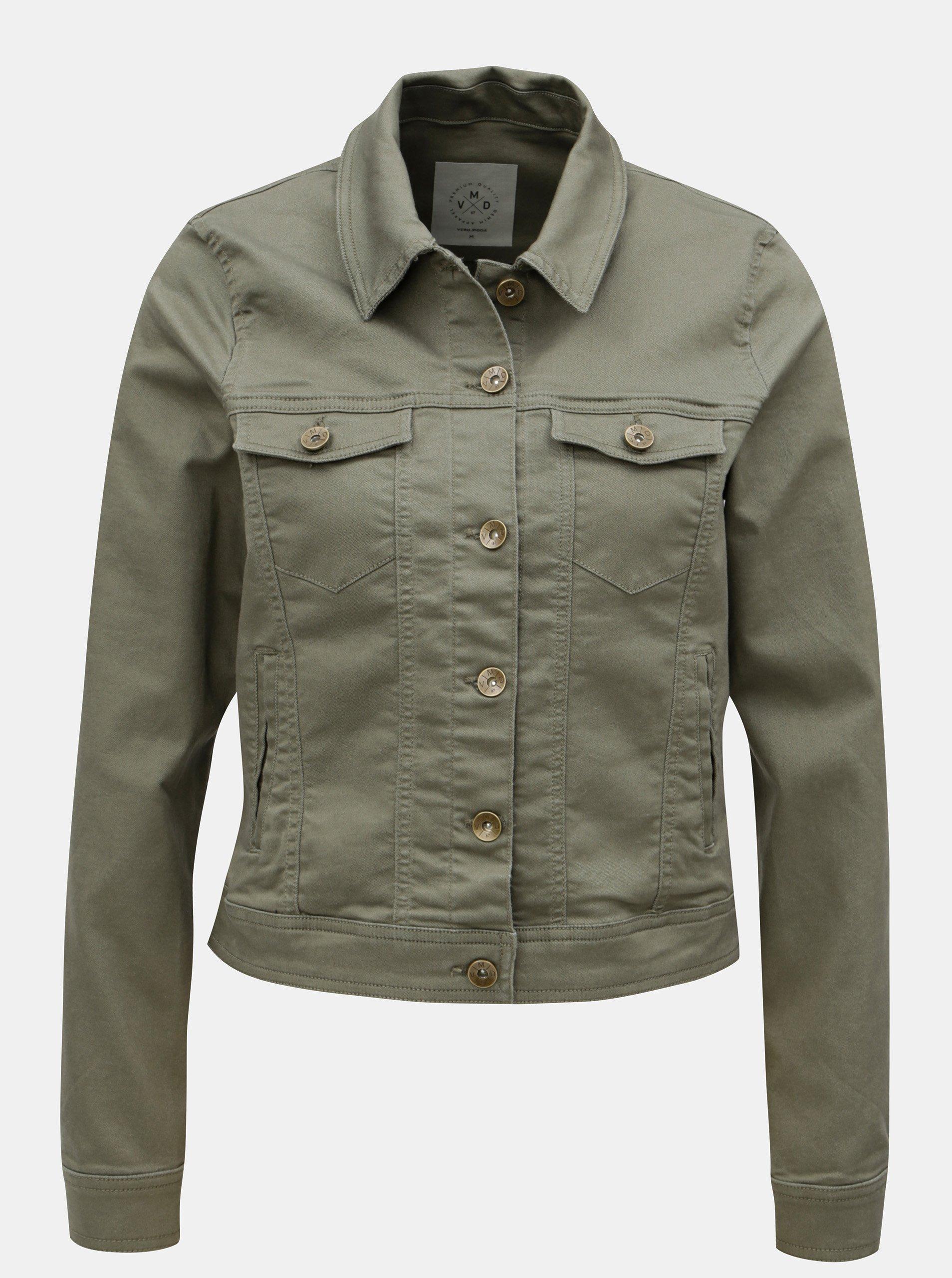 Khaki krátká džínová bunda VERO MODA