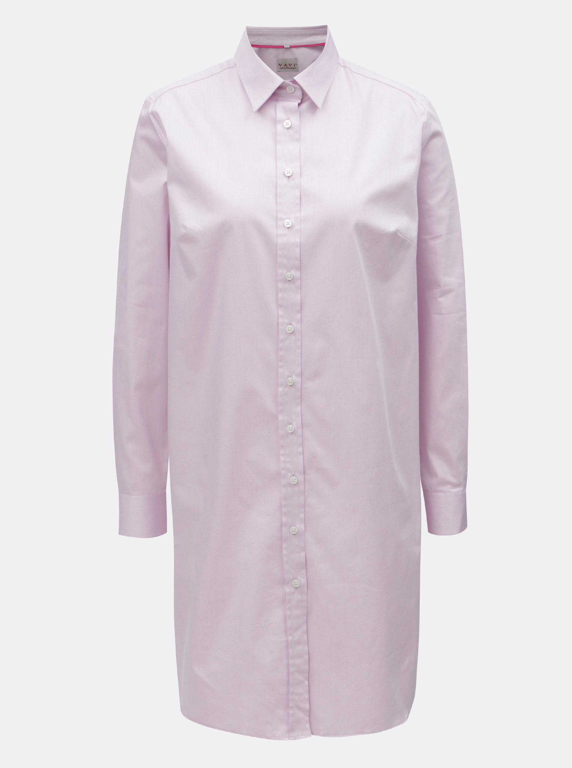 00b4a72bf99d Ružové košeľové šaty VAVI