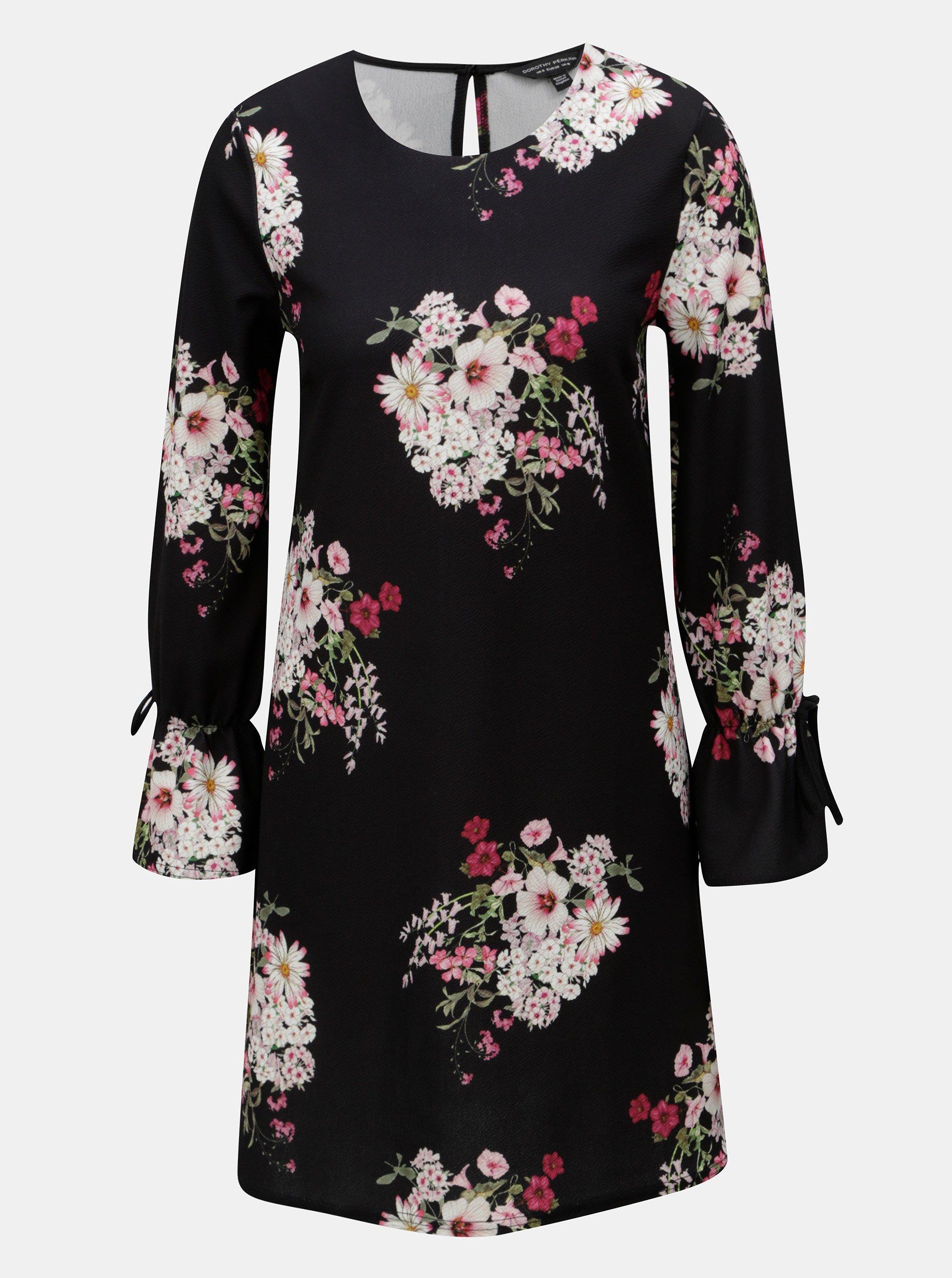 9ce8539ae8a6 Čierne šaty s dlhým rukávom Dorothy Perkins