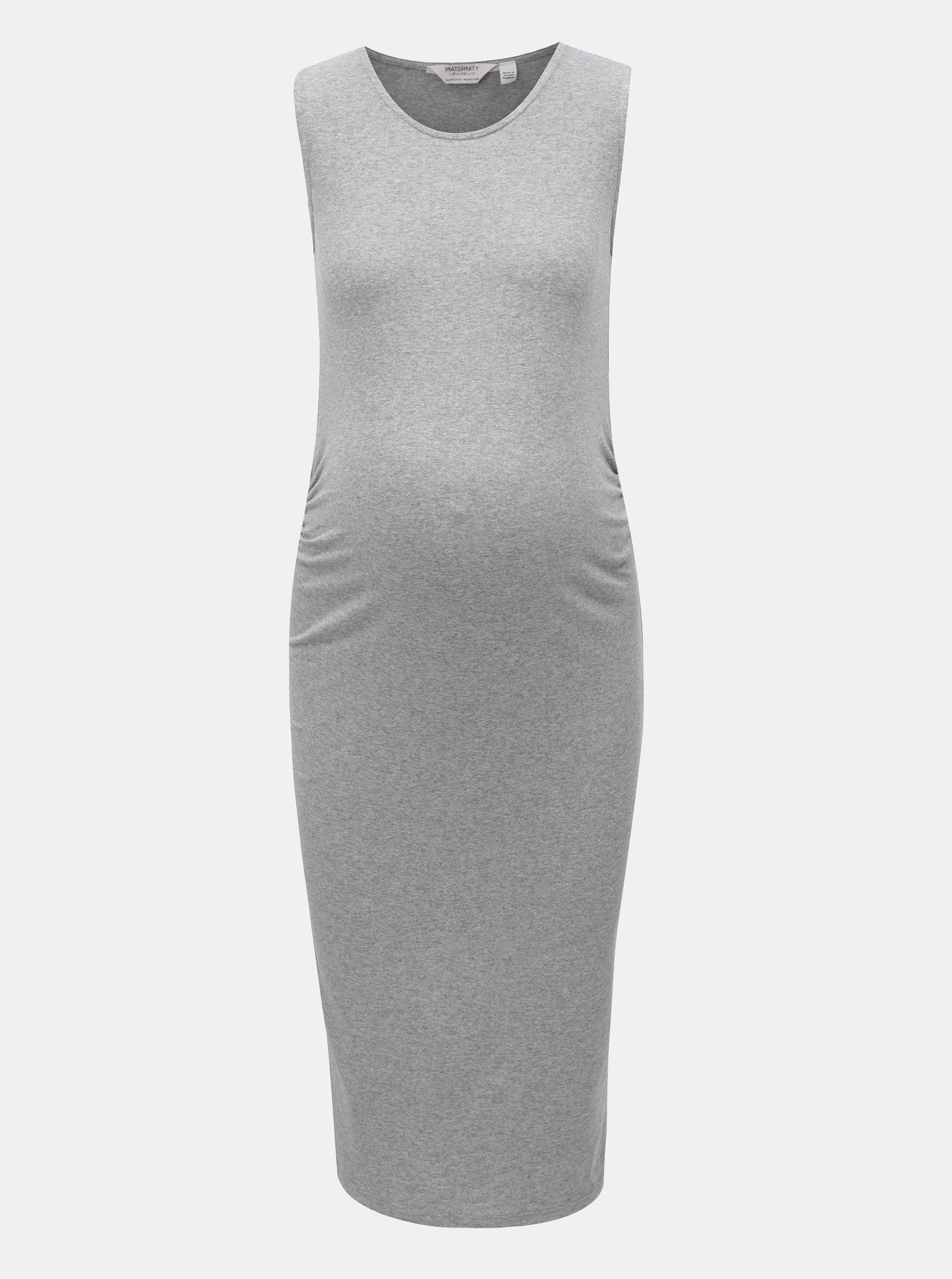 9aecc7d7c9cd Sivé tehotenské melírované šaty Dorothy Perkins Maternity