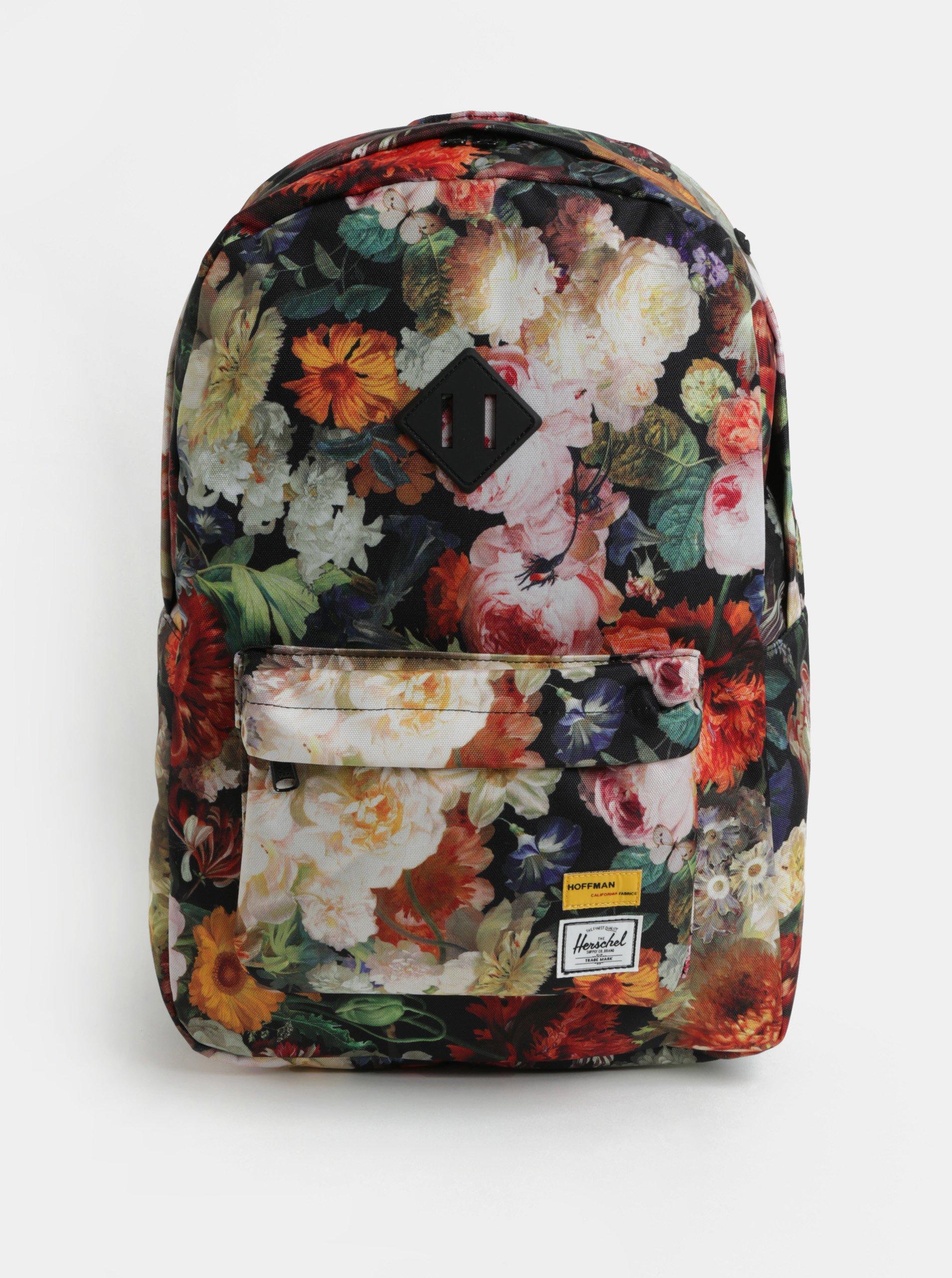 Fotografie Barevný dámský květovaný batoh Herschel Heritage 21,5 l