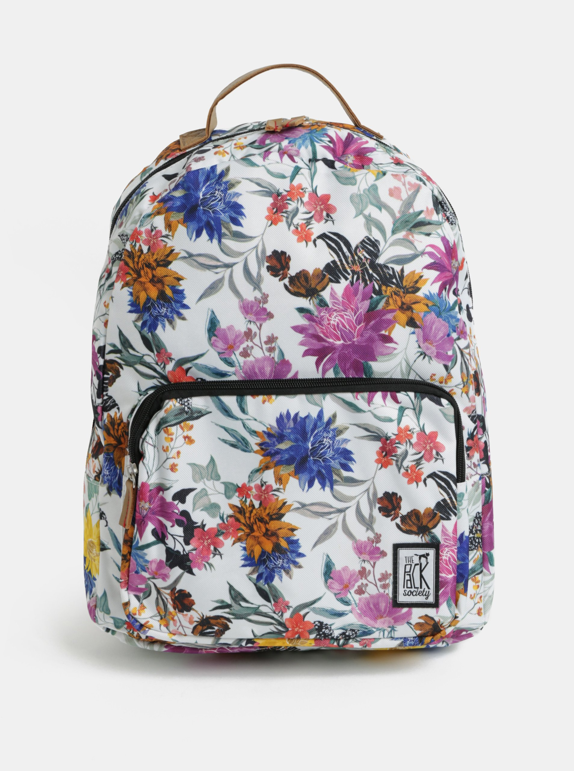 Fotografie Bílý dámský vzorovaný batoh The Pack Society 18 l