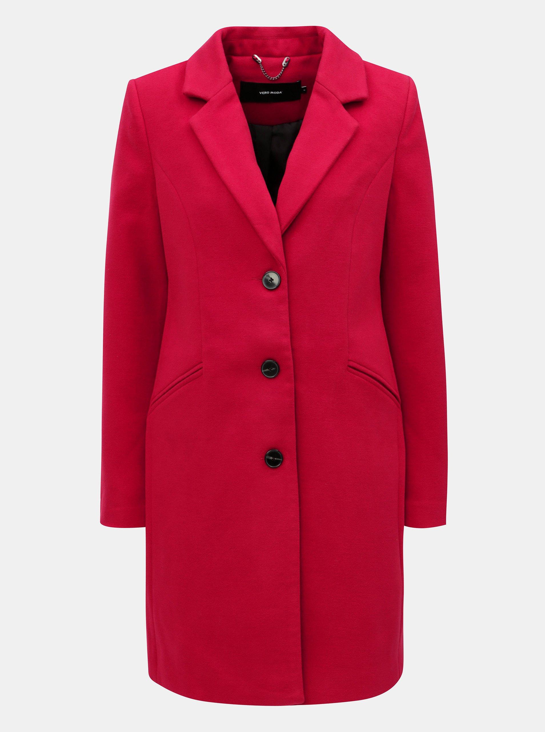 Červený kabát s kapsami VERO MODA