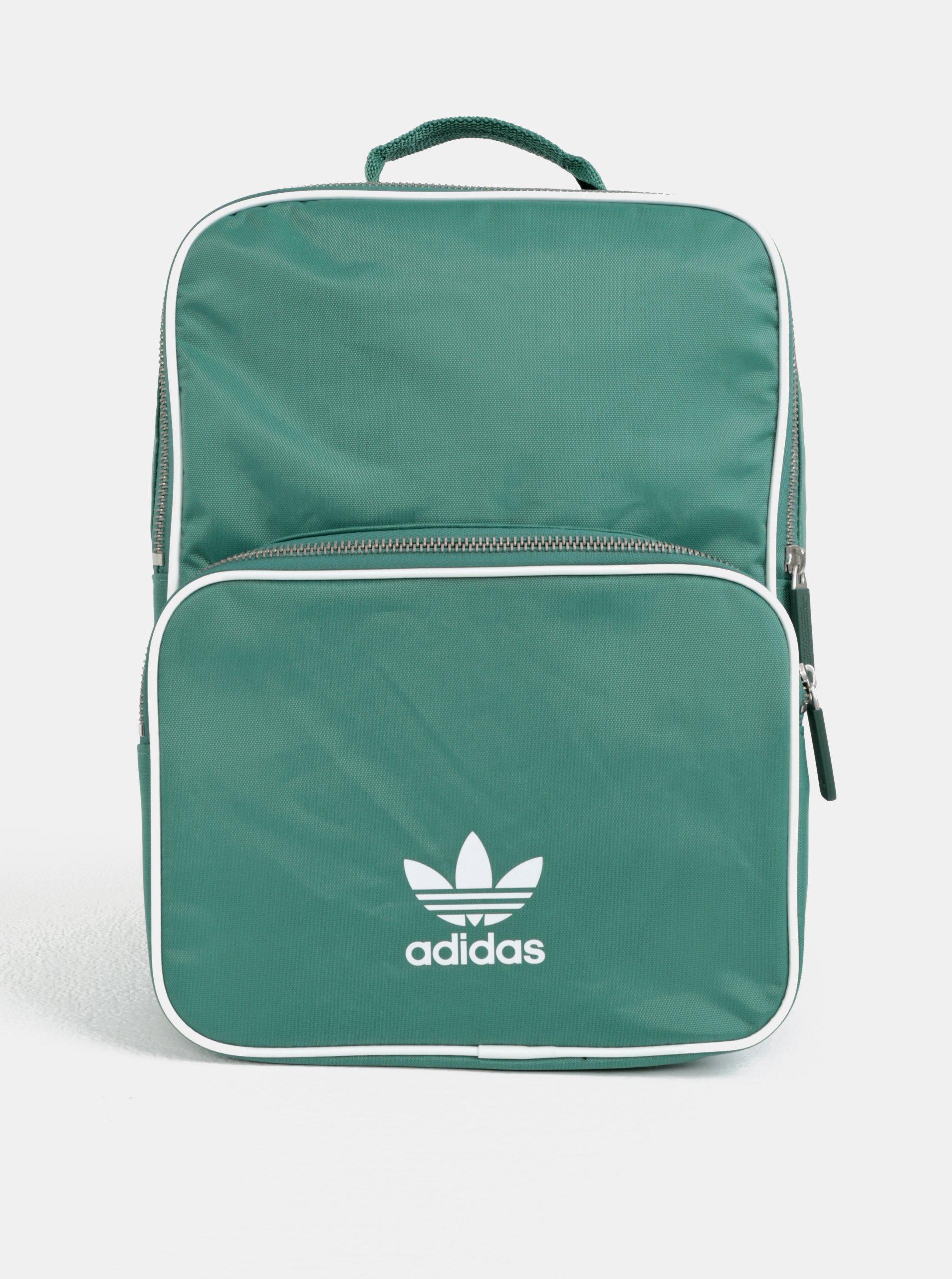 Zelený malý batoh s potiskem adidas Originals