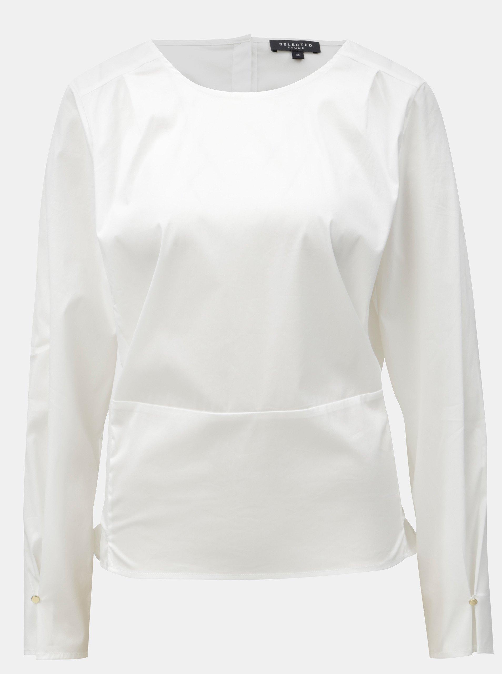 Bílá halenka se zavazováním Selected Femme ece84cacff